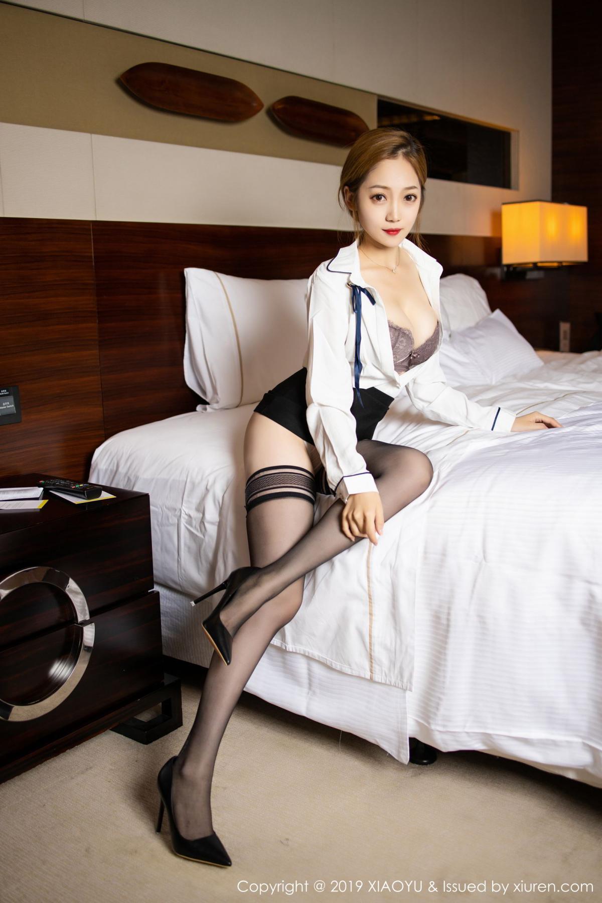 [XiaoYu] Vol.181 Yuner Claire 23P, Black Silk, Underwear, XiaoYu, Yuner Claire