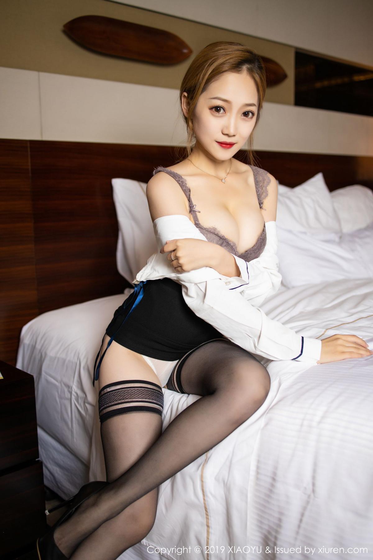 [XiaoYu] Vol.181 Yuner Claire 25P, Black Silk, Underwear, XiaoYu, Yuner Claire