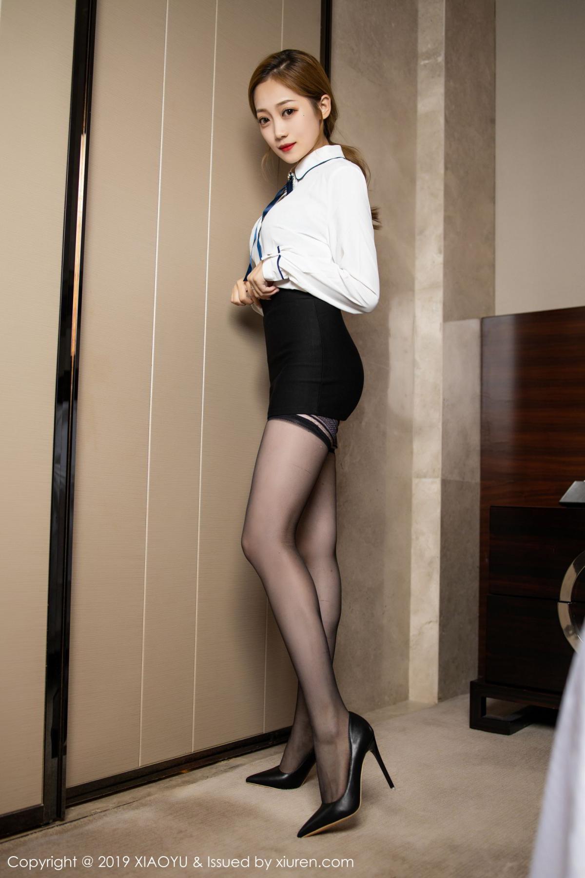 [XiaoYu] Vol.181 Yuner Claire 2P, Black Silk, Underwear, XiaoYu, Yuner Claire