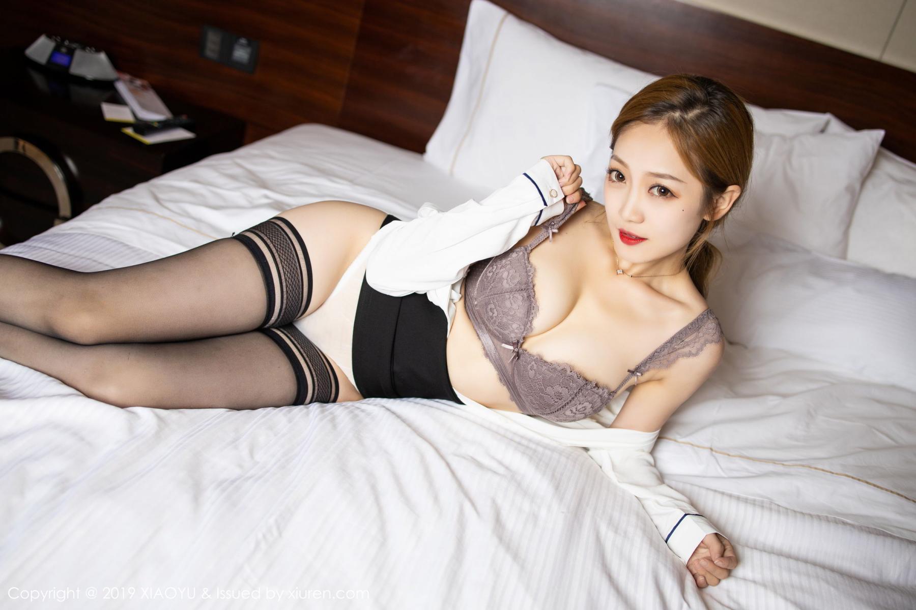[XiaoYu] Vol.181 Yuner Claire 32P, Black Silk, Underwear, XiaoYu, Yuner Claire