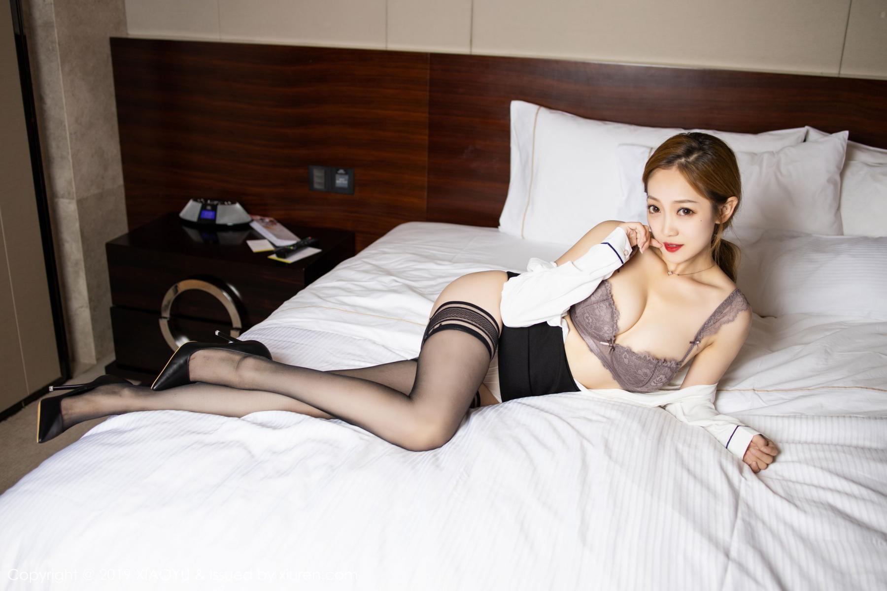 [XiaoYu] Vol.181 Yuner Claire 34P, Black Silk, Underwear, XiaoYu, Yuner Claire