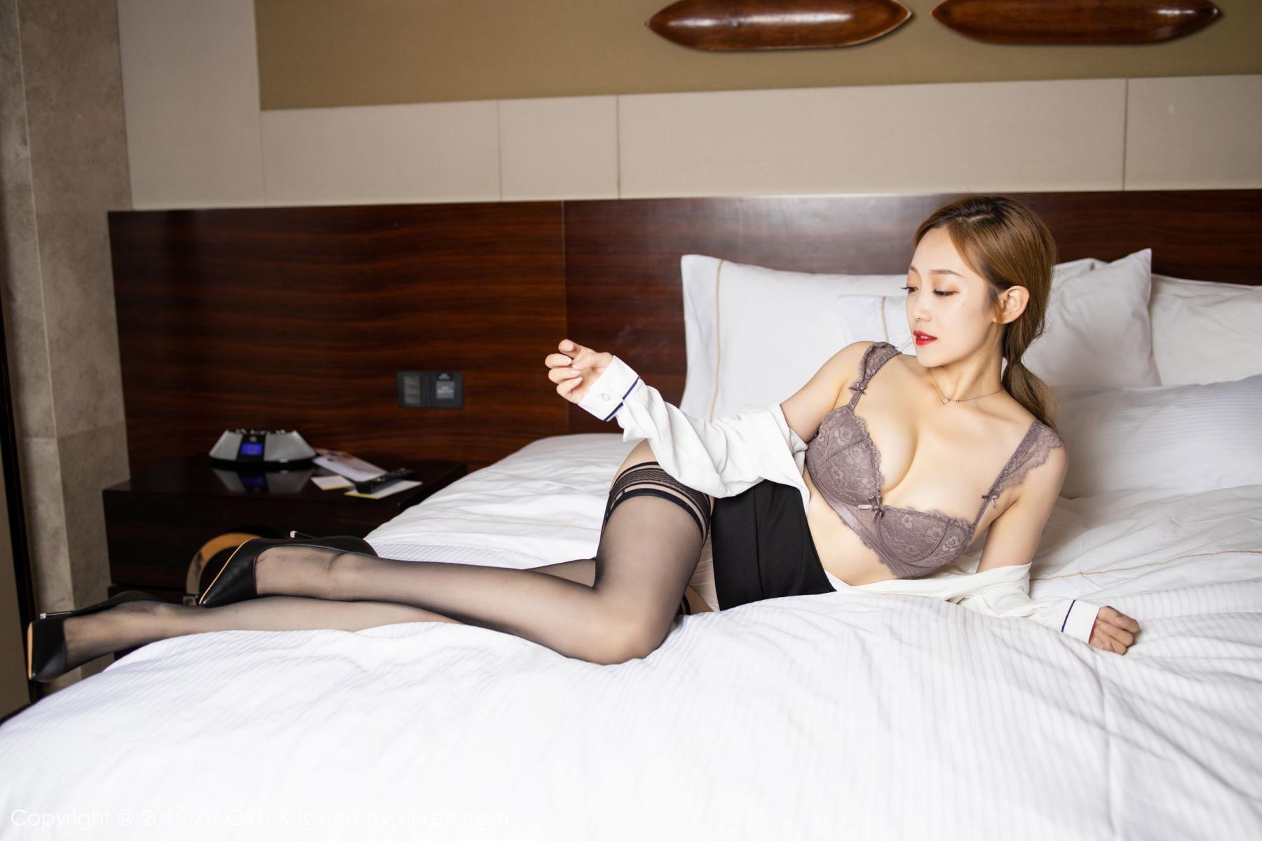 [XiaoYu] Vol.181 Yuner Claire 35P, Black Silk, Underwear, XiaoYu, Yuner Claire