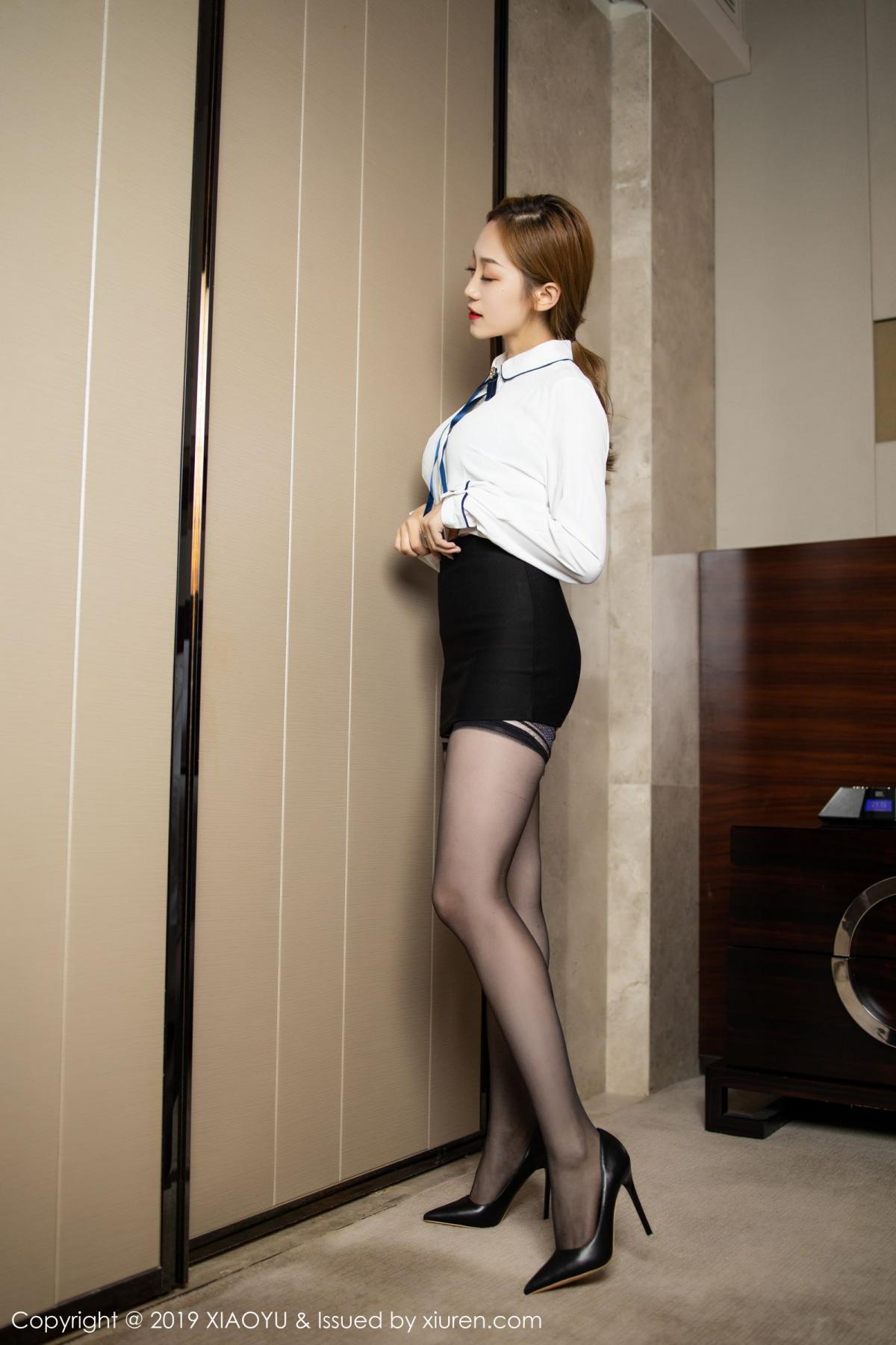[XiaoYu] Vol.181 Yuner Claire 3P, Black Silk, Underwear, XiaoYu, Yuner Claire