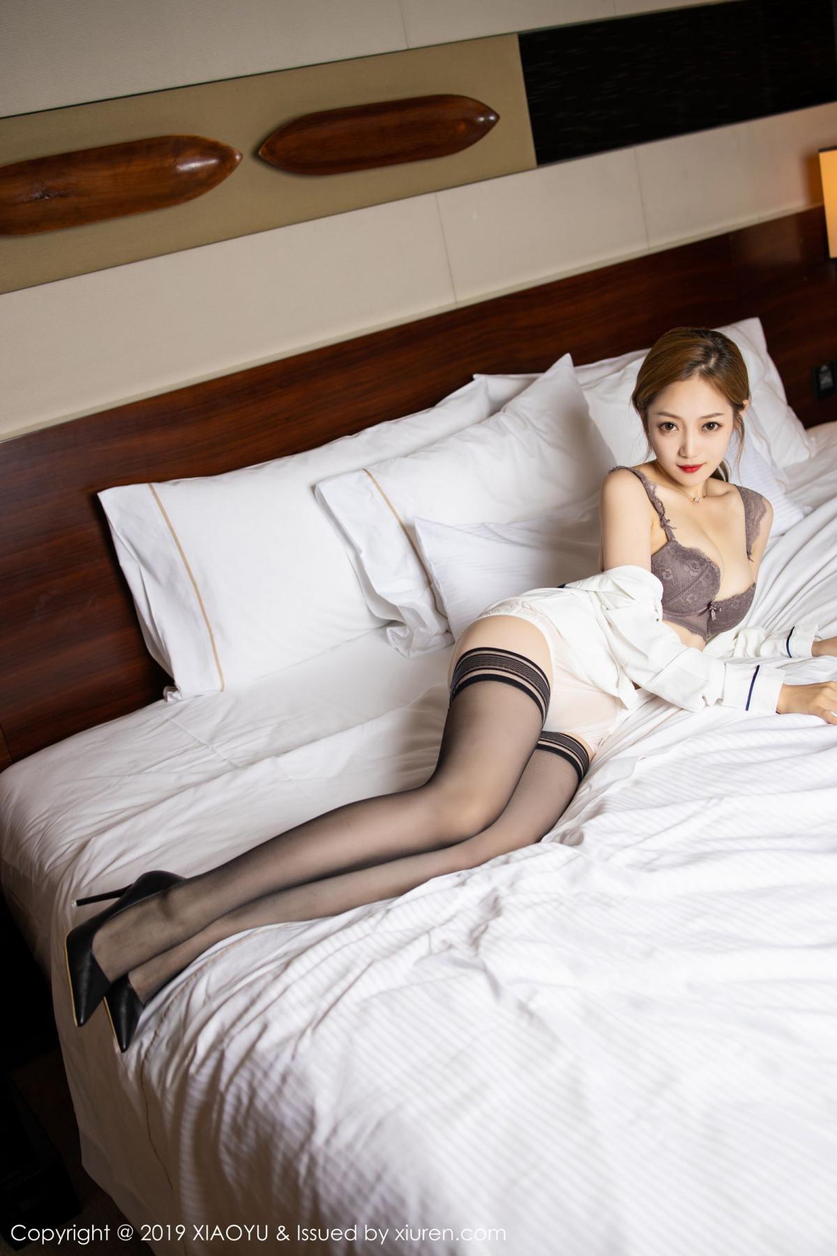 [XiaoYu] Vol.181 Yuner Claire 46P, Black Silk, Underwear, XiaoYu, Yuner Claire