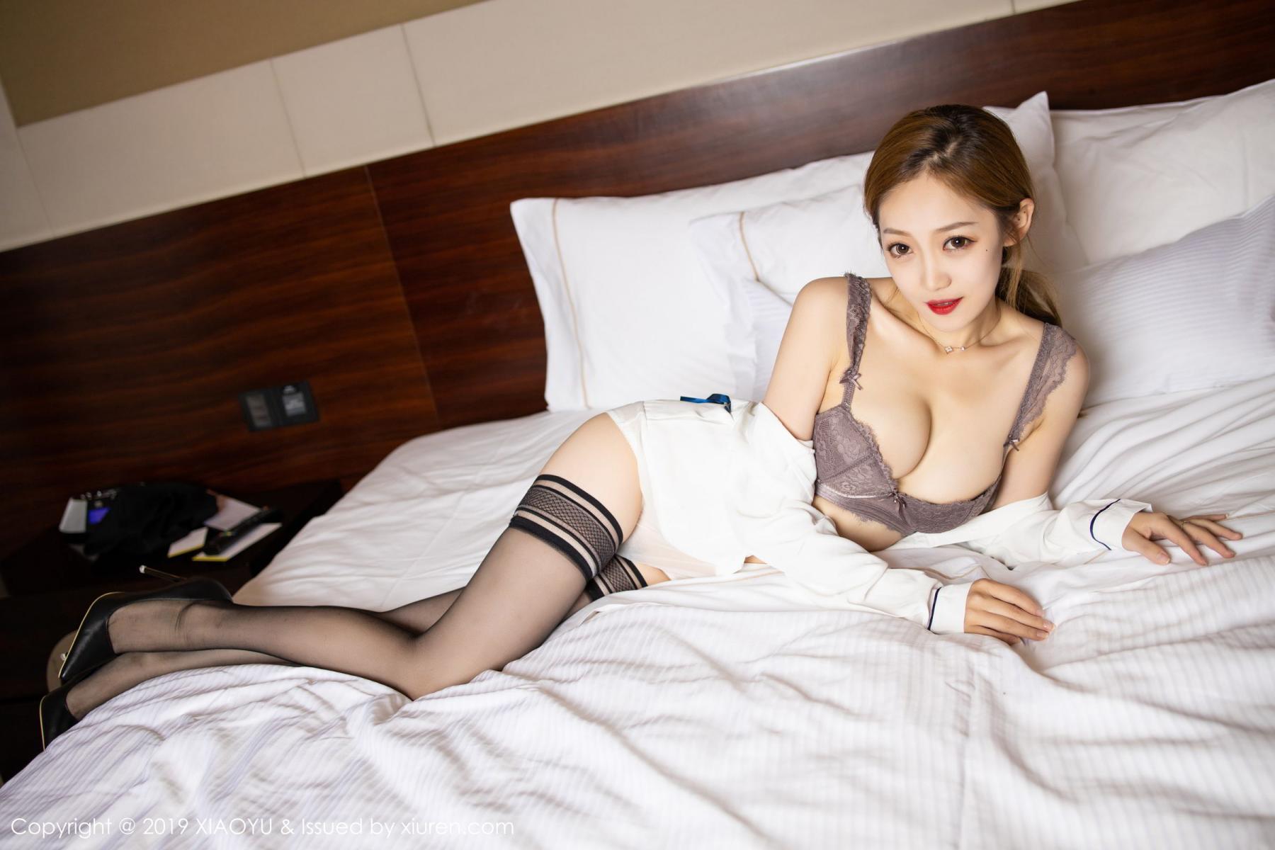 [XiaoYu] Vol.181 Yuner Claire 50P, Black Silk, Underwear, XiaoYu, Yuner Claire