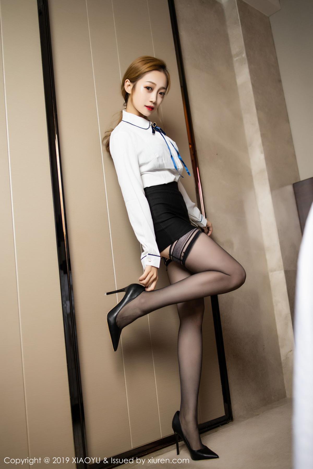 [XiaoYu] Vol.181 Yuner Claire 7P, Black Silk, Underwear, XiaoYu, Yuner Claire