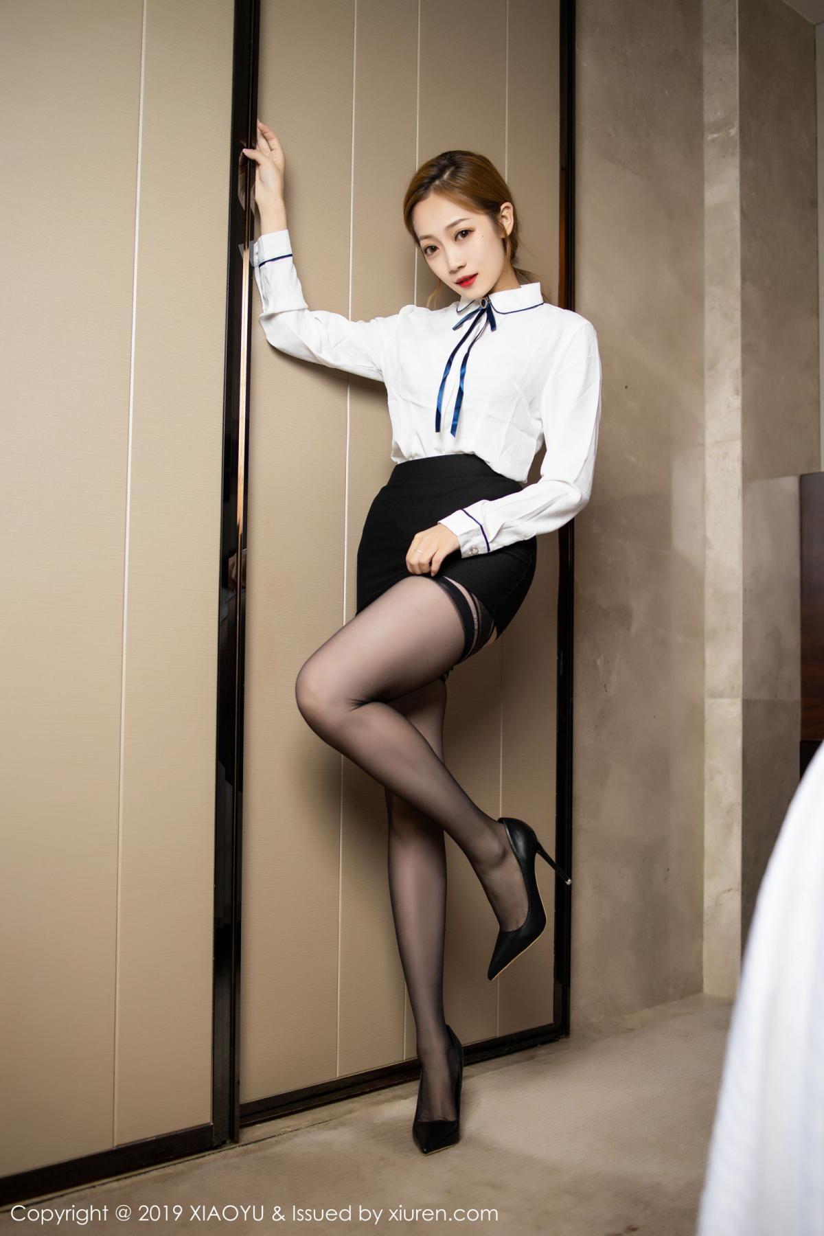 [XiaoYu] Vol.181 Yuner Claire 9P, Black Silk, Underwear, XiaoYu, Yuner Claire