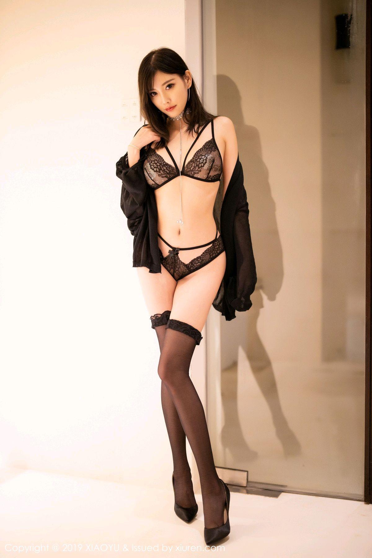 [XiaoYu] Vol.189 Yang Chen Chen 10P, Black Silk, Underwear, XiaoYu, Yang Chen Chen