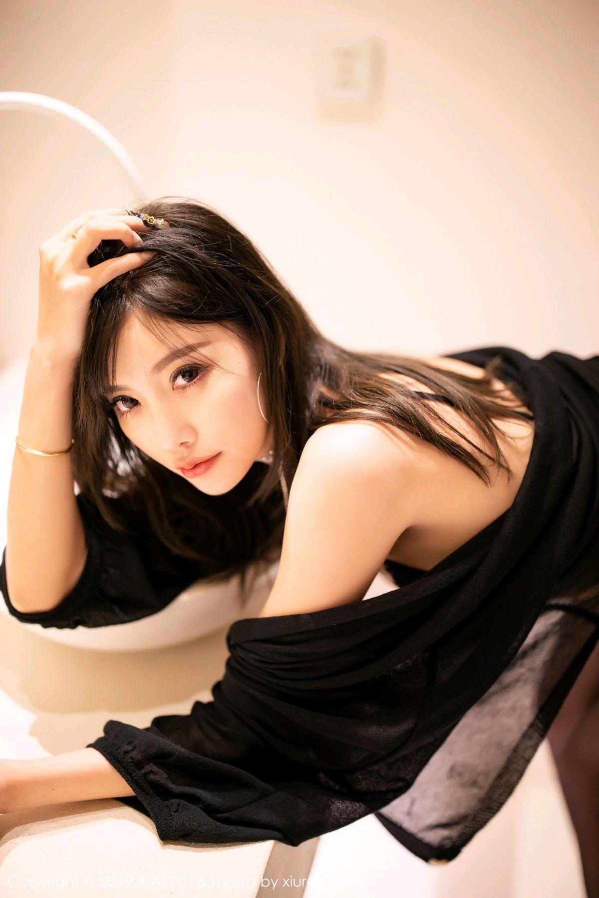 [XiaoYu] Vol.189 Yang Chen Chen 20P, Black Silk, Underwear, XiaoYu, Yang Chen Chen