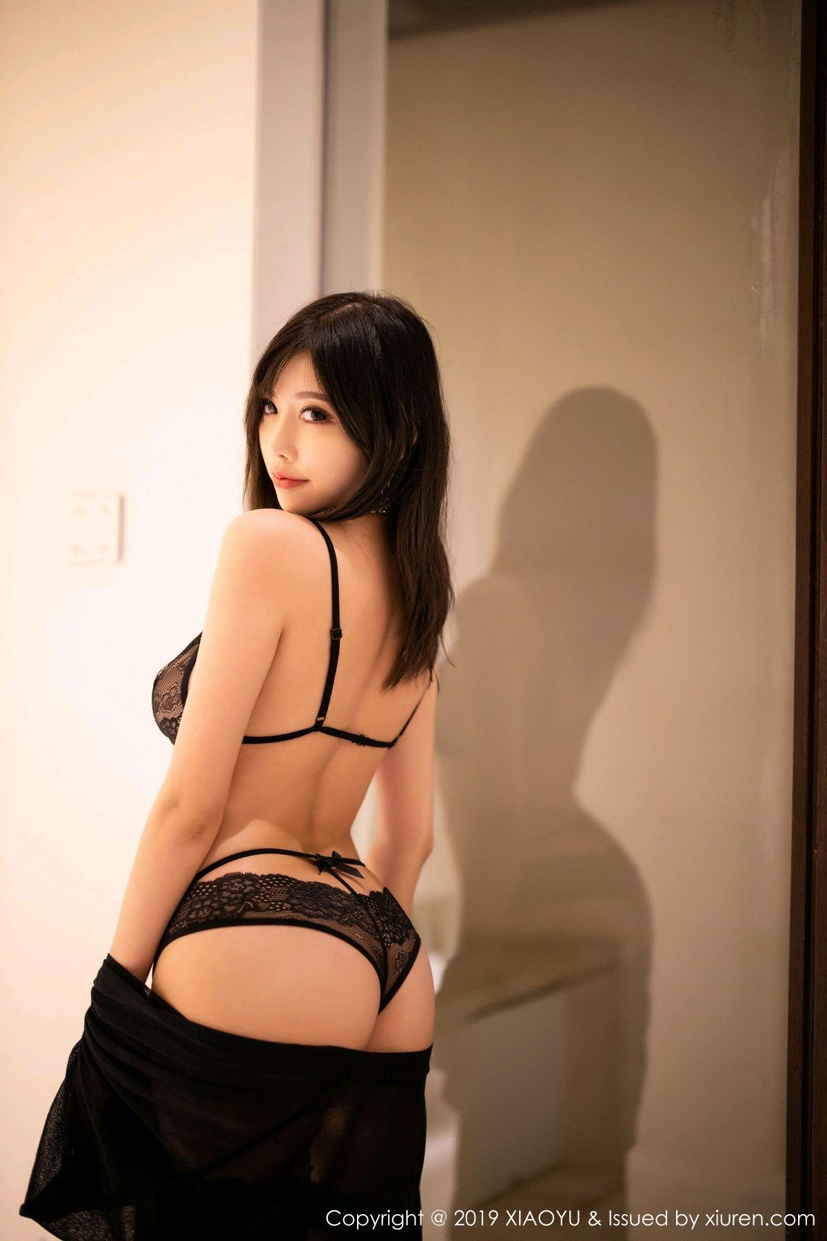 [XiaoYu] Vol.189 Yang Chen Chen 2P, Black Silk, Underwear, XiaoYu, Yang Chen Chen