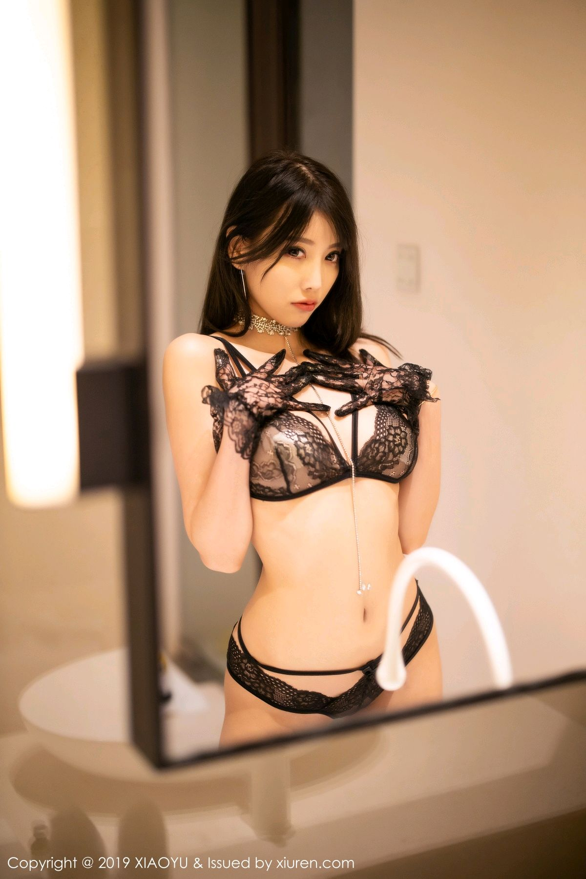 [XiaoYu] Vol.189 Yang Chen Chen 32P, Black Silk, Underwear, XiaoYu, Yang Chen Chen