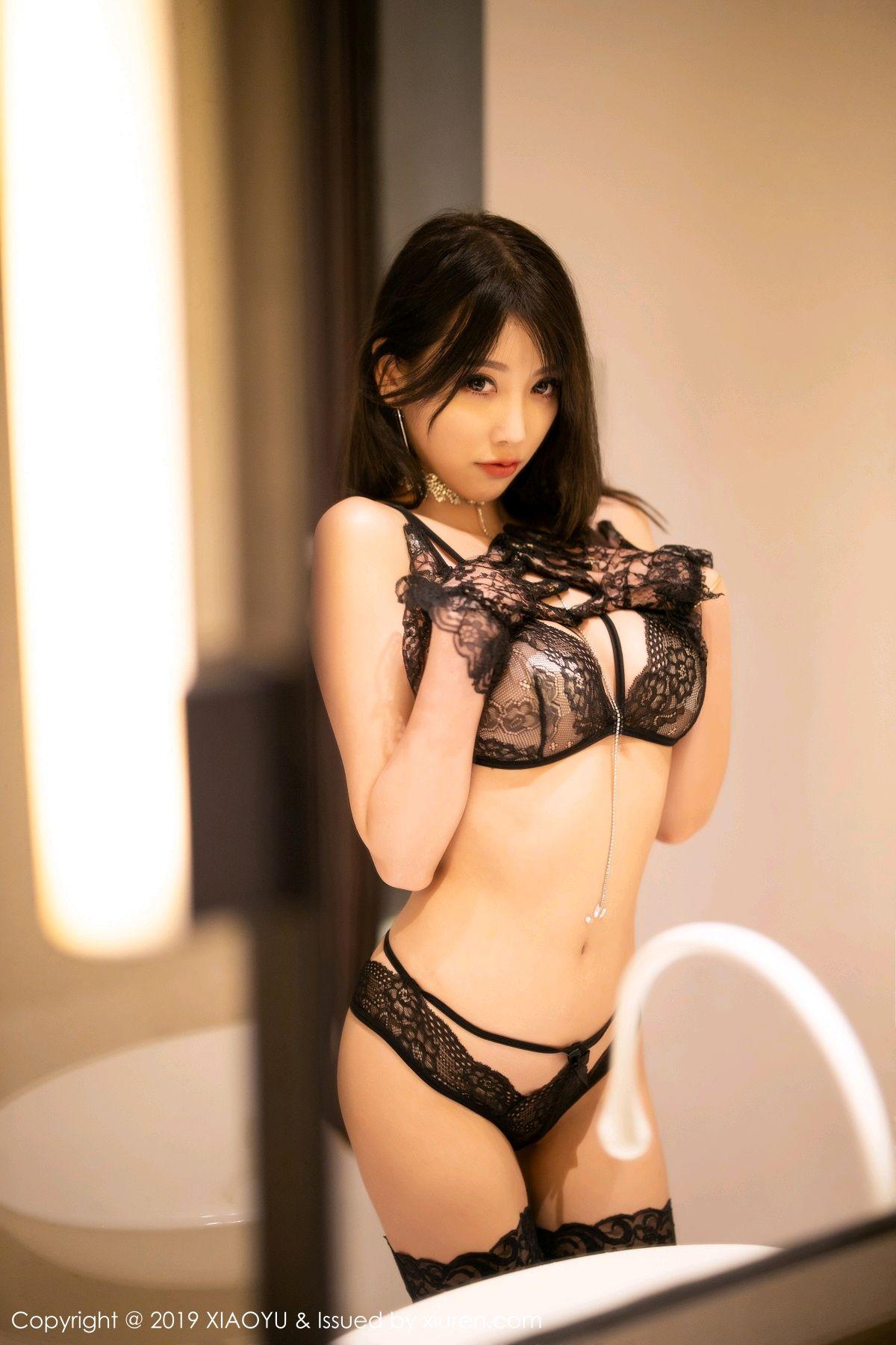 [XiaoYu] Vol.189 Yang Chen Chen 33P, Black Silk, Underwear, XiaoYu, Yang Chen Chen