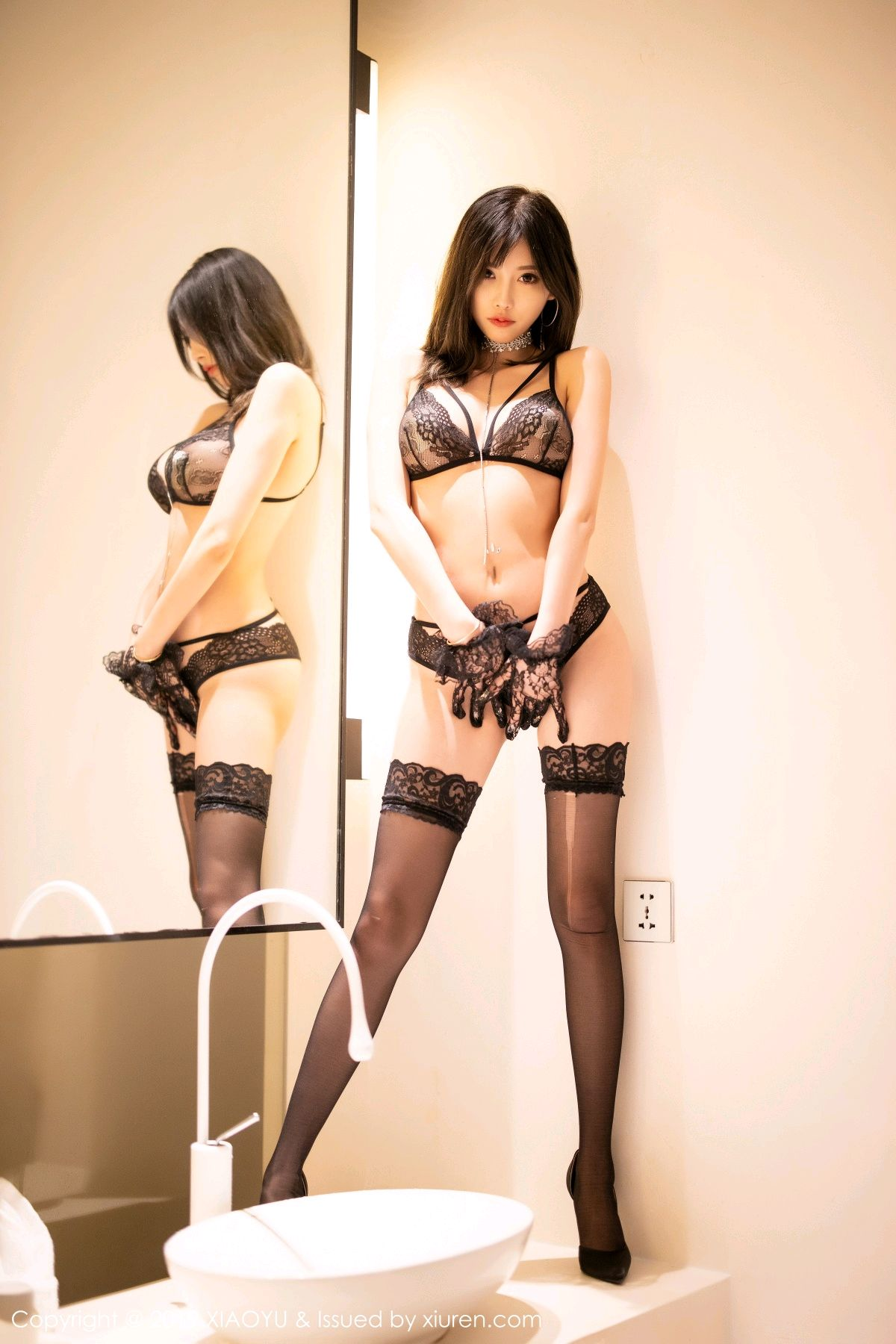 [XiaoYu] Vol.189 Yang Chen Chen 35P, Black Silk, Underwear, XiaoYu, Yang Chen Chen