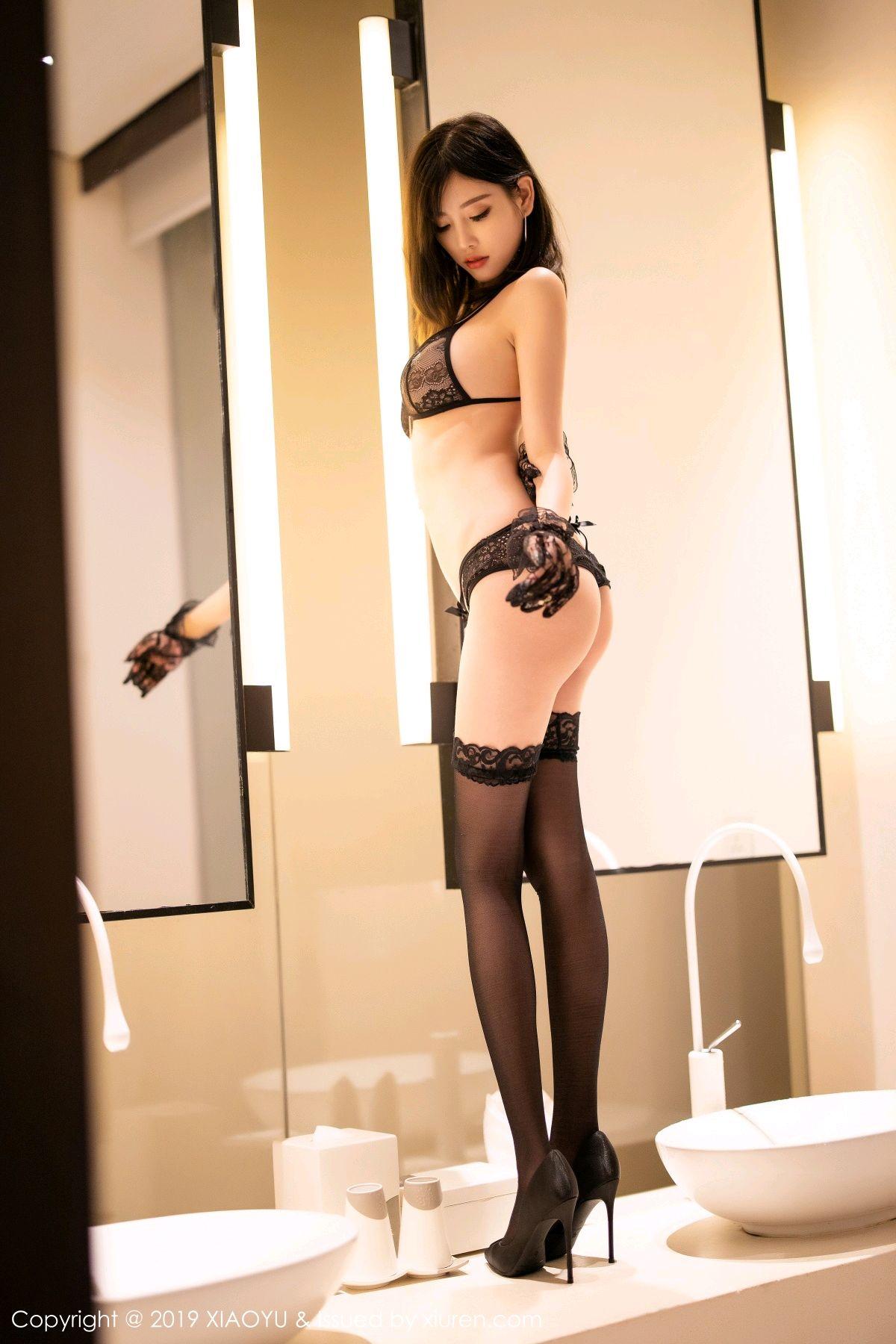 [XiaoYu] Vol.189 Yang Chen Chen 47P, Black Silk, Underwear, XiaoYu, Yang Chen Chen