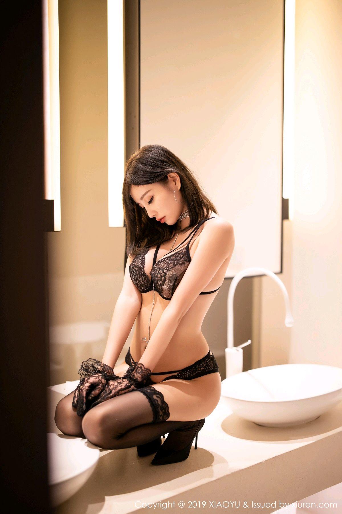 [XiaoYu] Vol.189 Yang Chen Chen 54P, Black Silk, Underwear, XiaoYu, Yang Chen Chen