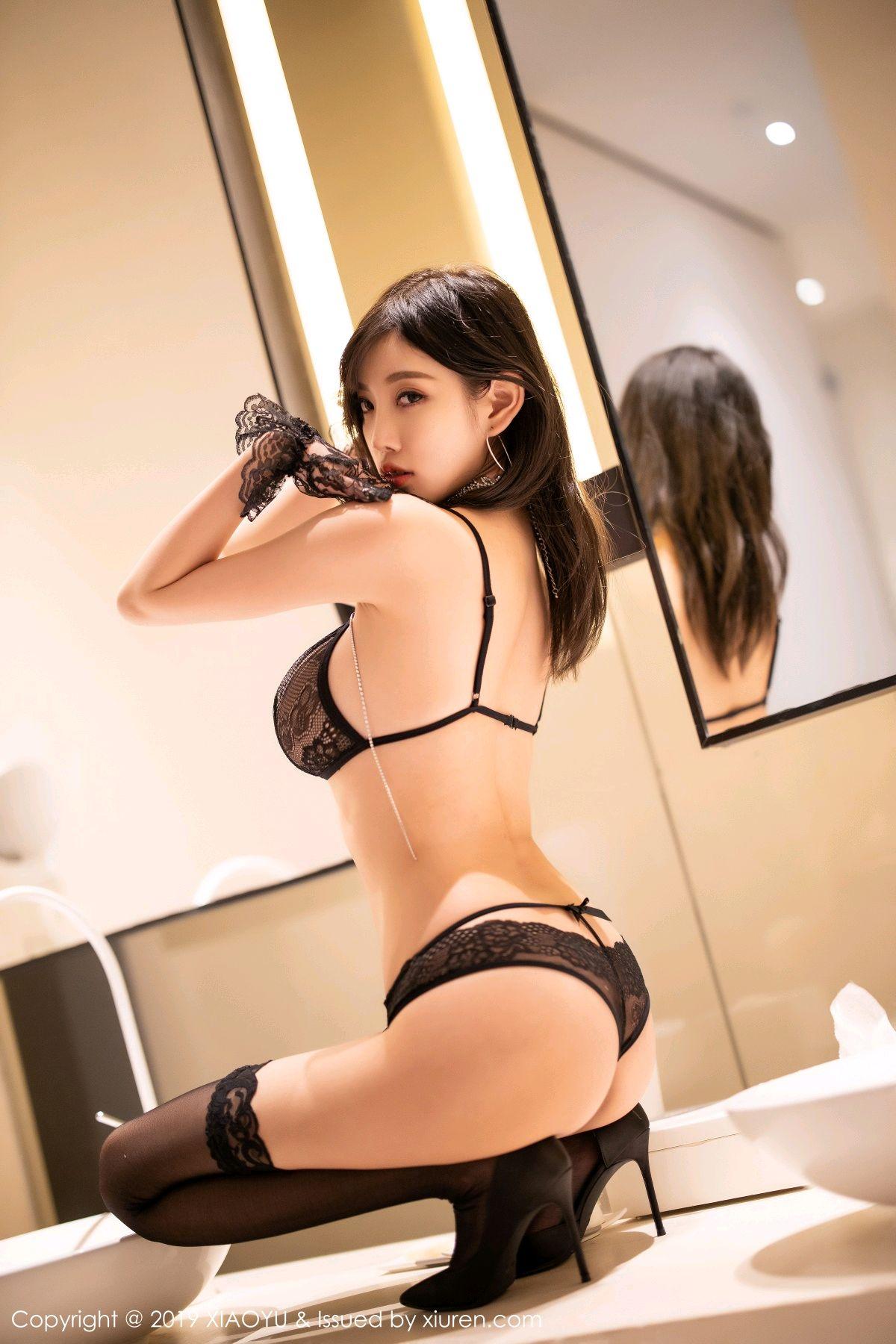 [XiaoYu] Vol.189 Yang Chen Chen 58P, Black Silk, Underwear, XiaoYu, Yang Chen Chen