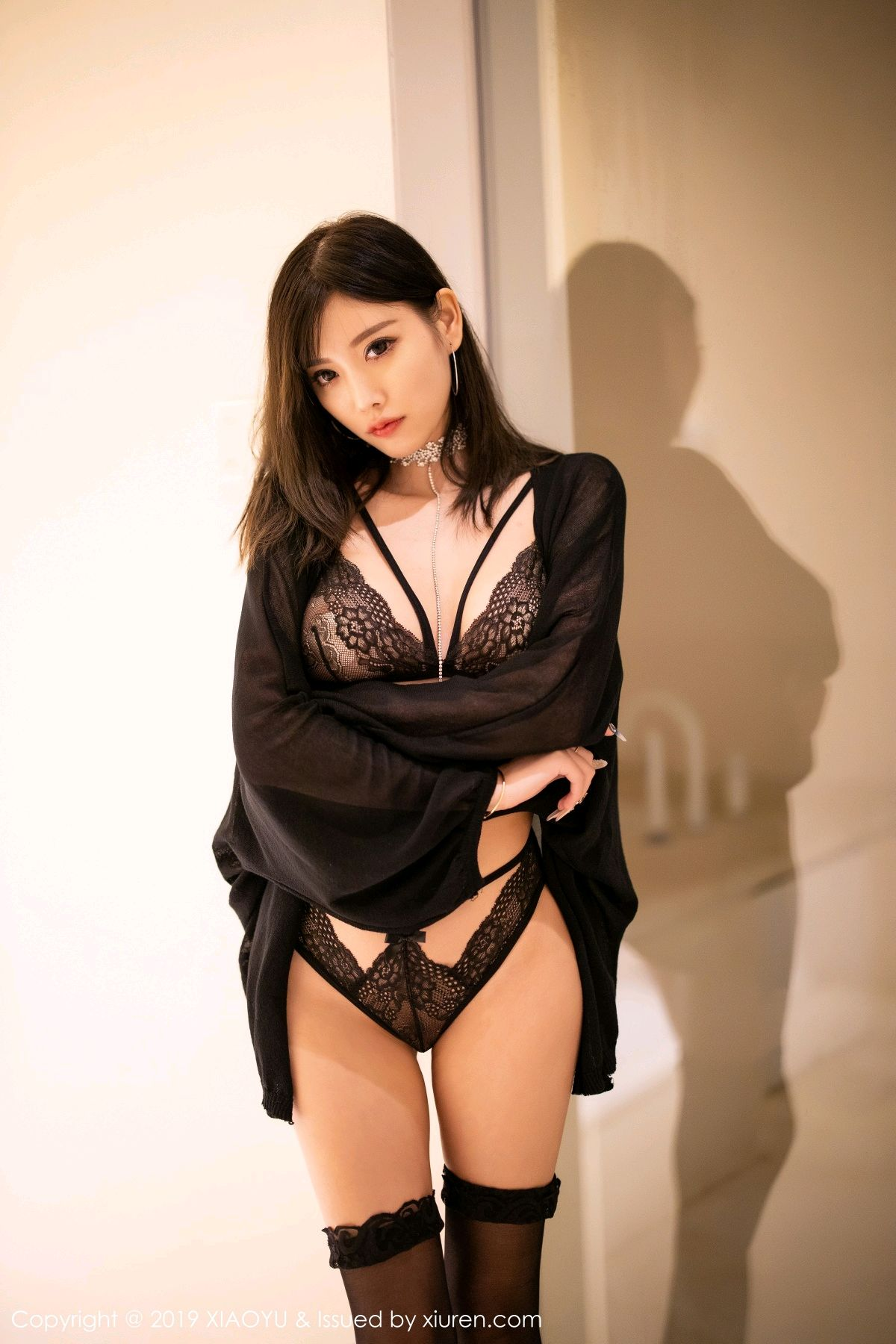 [XiaoYu] Vol.189 Yang Chen Chen 8P, Black Silk, Underwear, XiaoYu, Yang Chen Chen