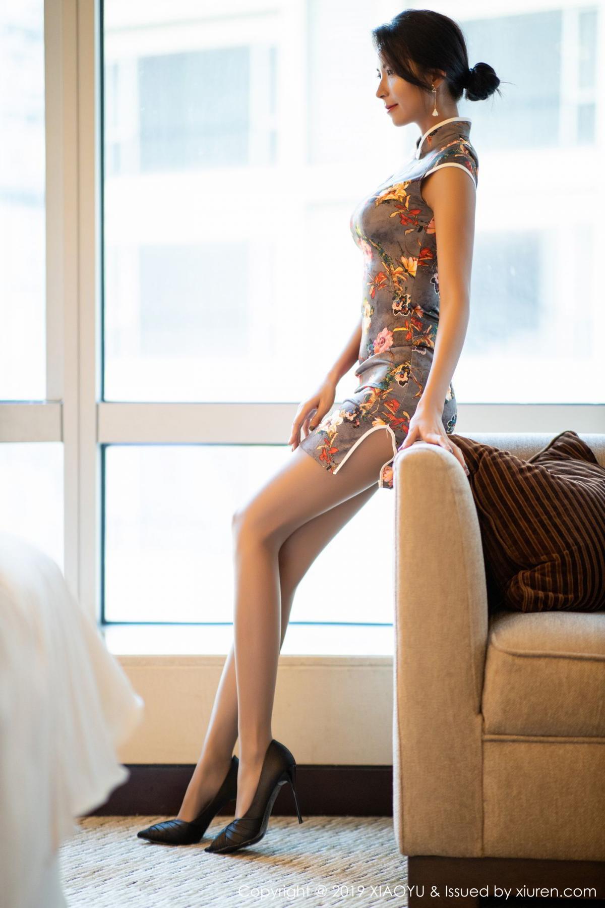 [XiaoYu] Vol.196 Chen Liang Ling 1P, Chen Liang Ling, Cheongsam, Temperament, Underwear, XiaoYu