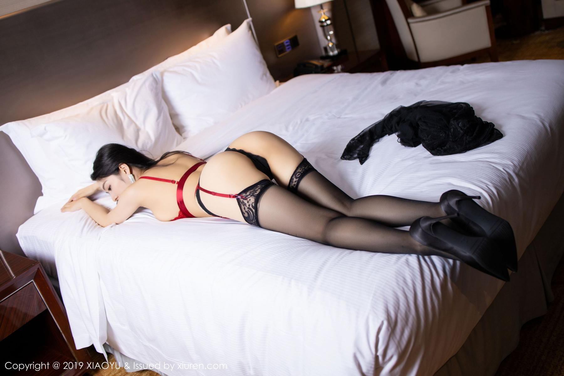 [XiaoYu] Vol.198 Di Yi 18P, Black Silk, Di Yi, Underwear, XiaoYu