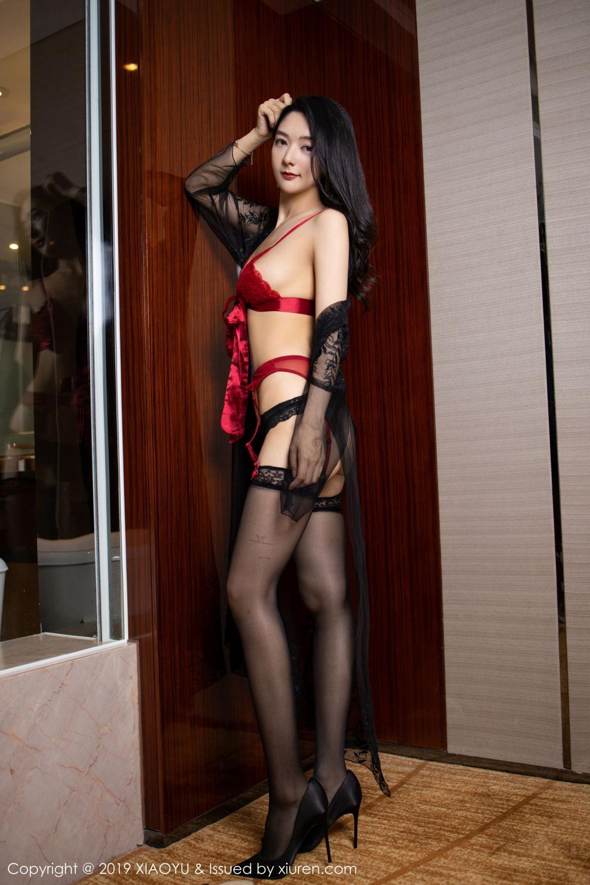 [XiaoYu] Vol.198 Di Yi 1P, Black Silk, Di Yi, Underwear, XiaoYu