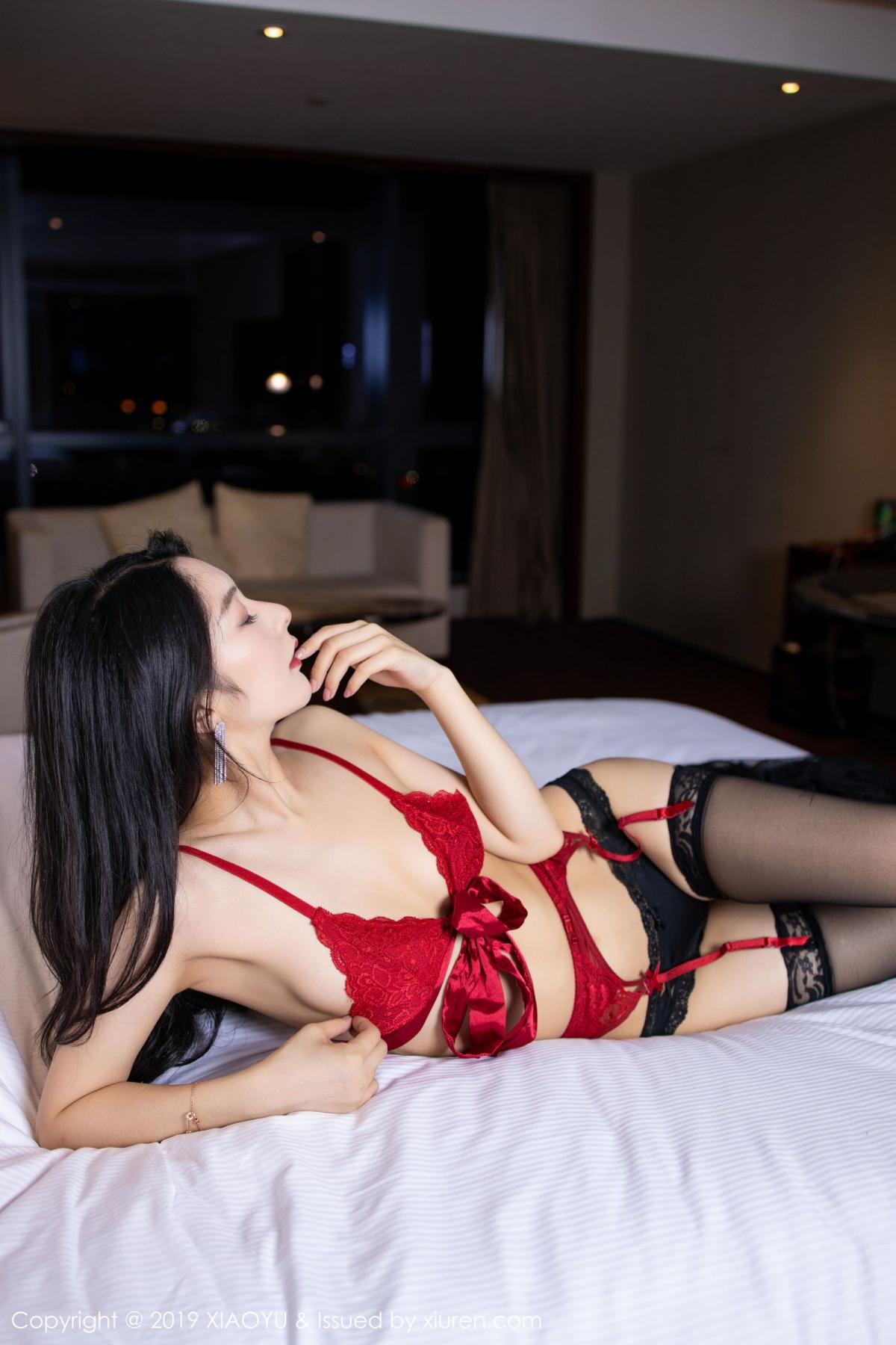 [XiaoYu] Vol.198 Di Yi 22P, Black Silk, Di Yi, Underwear, XiaoYu
