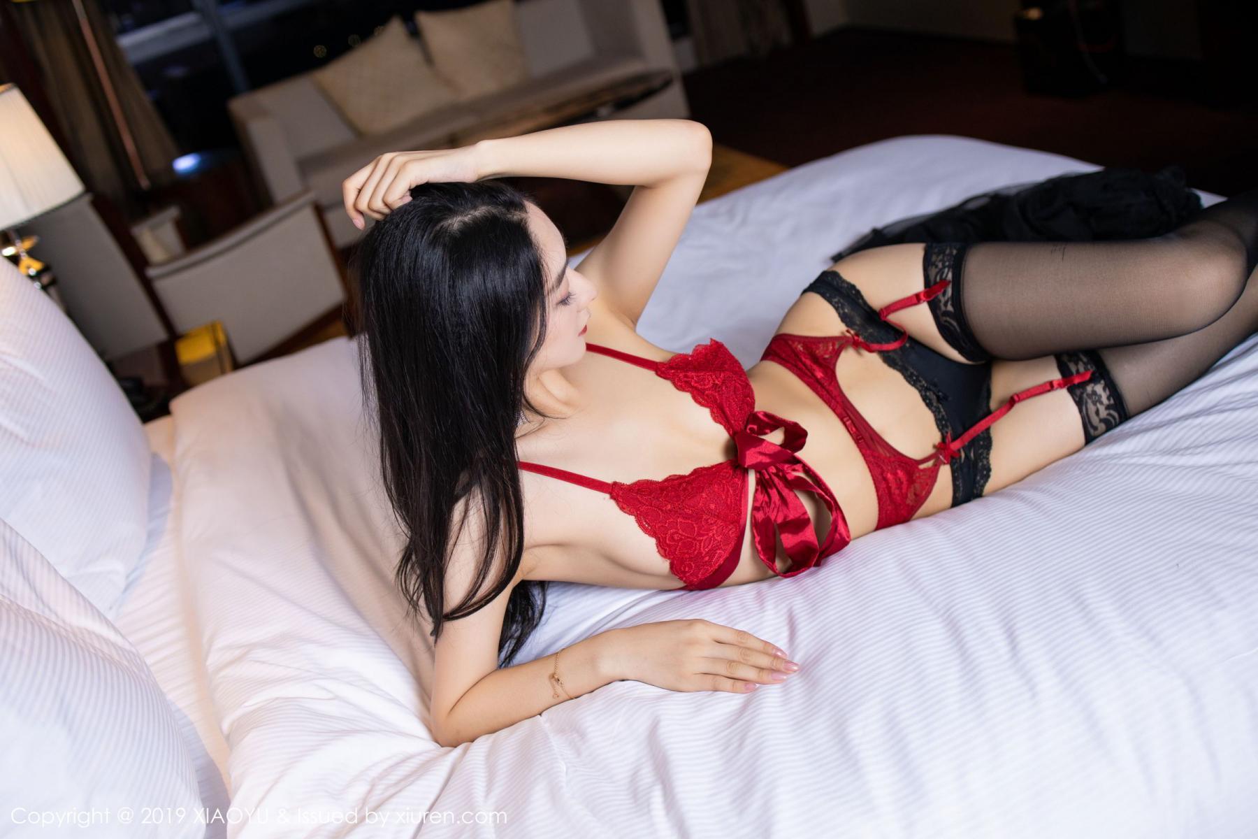 [XiaoYu] Vol.198 Di Yi 23P, Black Silk, Di Yi, Underwear, XiaoYu