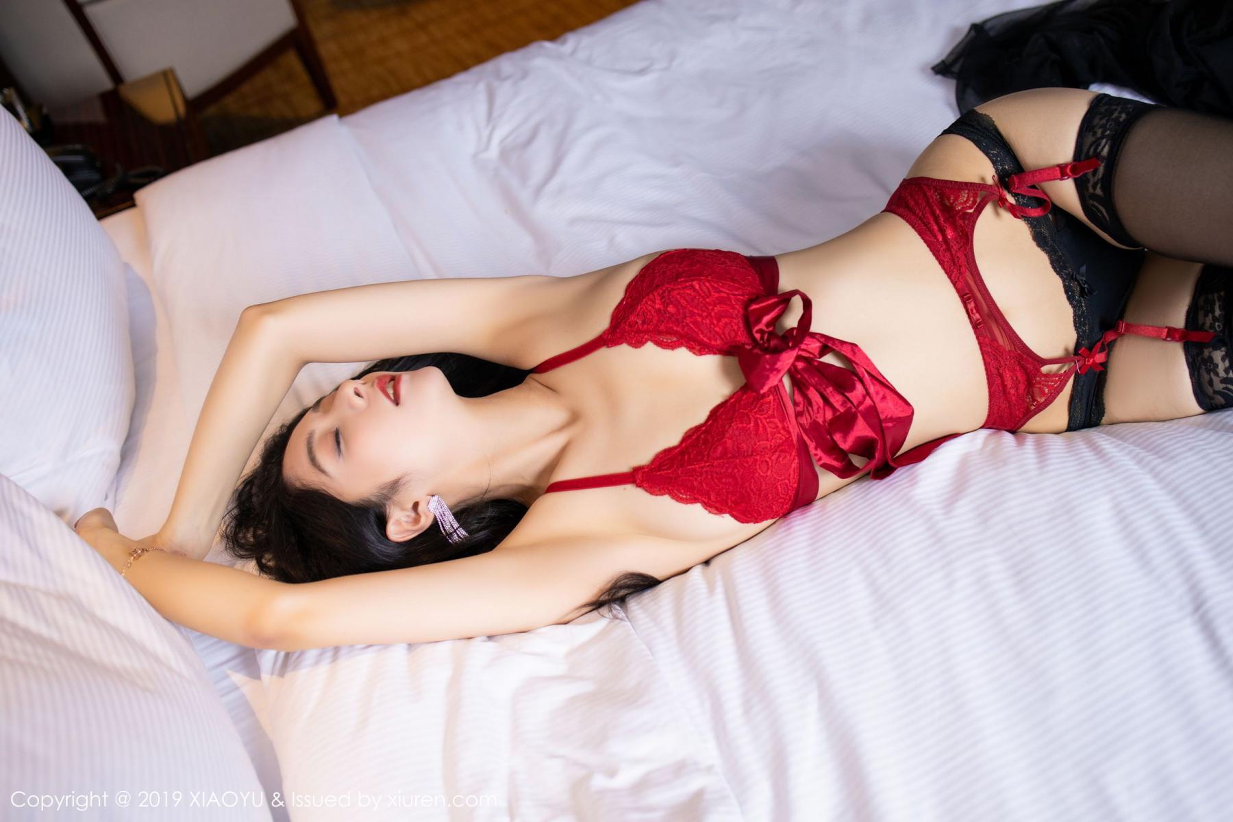 [XiaoYu] Vol.198 Di Yi 24P, Black Silk, Di Yi, Underwear, XiaoYu