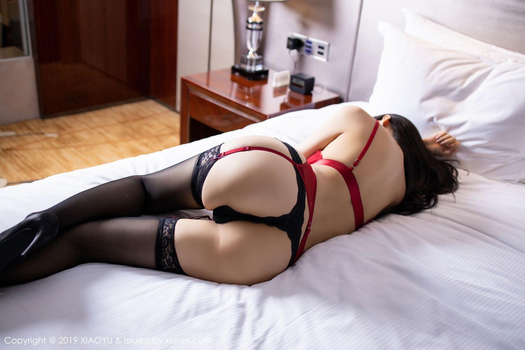 [XiaoYu] Vol.198 Di Yi 29P, Black Silk, Di Yi, Underwear, XiaoYu