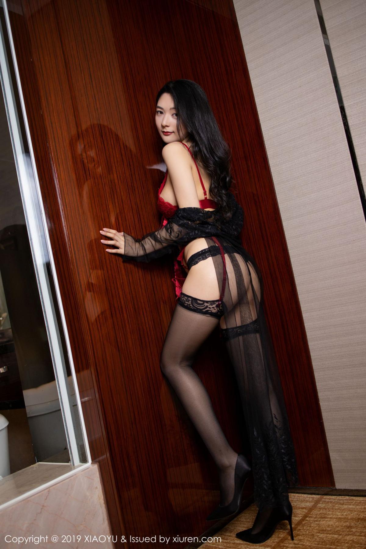 [XiaoYu] Vol.198 Di Yi 2P, Black Silk, Di Yi, Underwear, XiaoYu