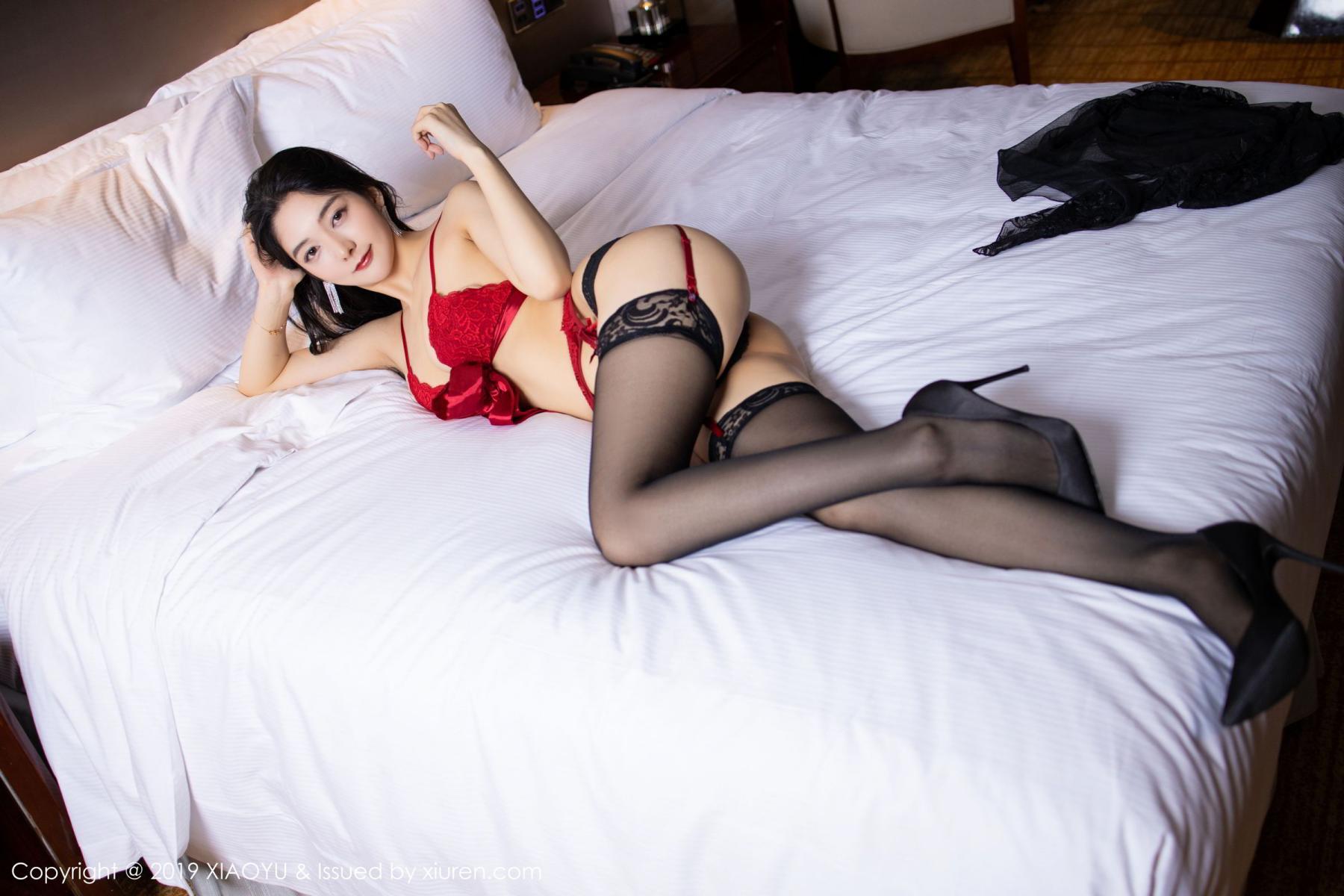 [XiaoYu] Vol.198 Di Yi 30P, Black Silk, Di Yi, Underwear, XiaoYu