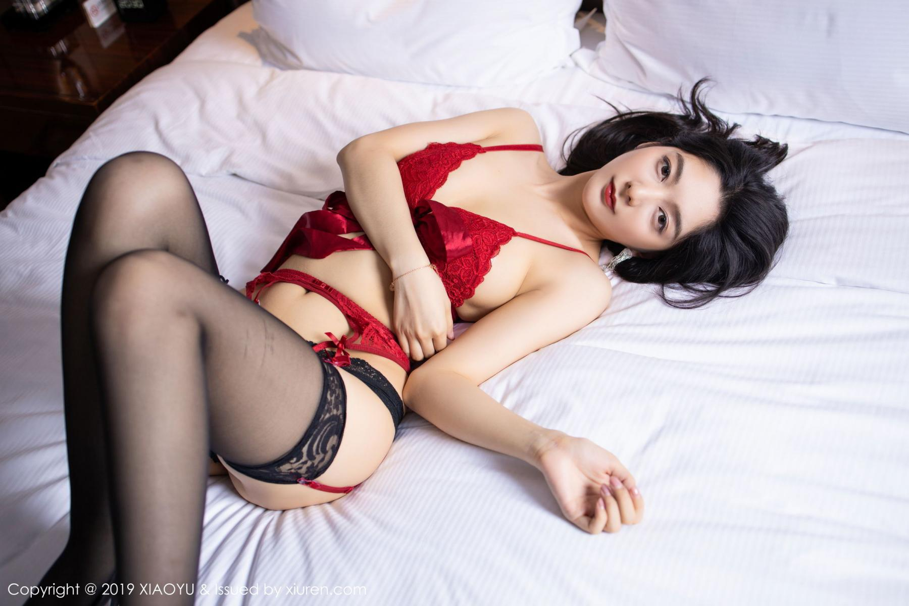 [XiaoYu] Vol.198 Di Yi 32P, Black Silk, Di Yi, Underwear, XiaoYu