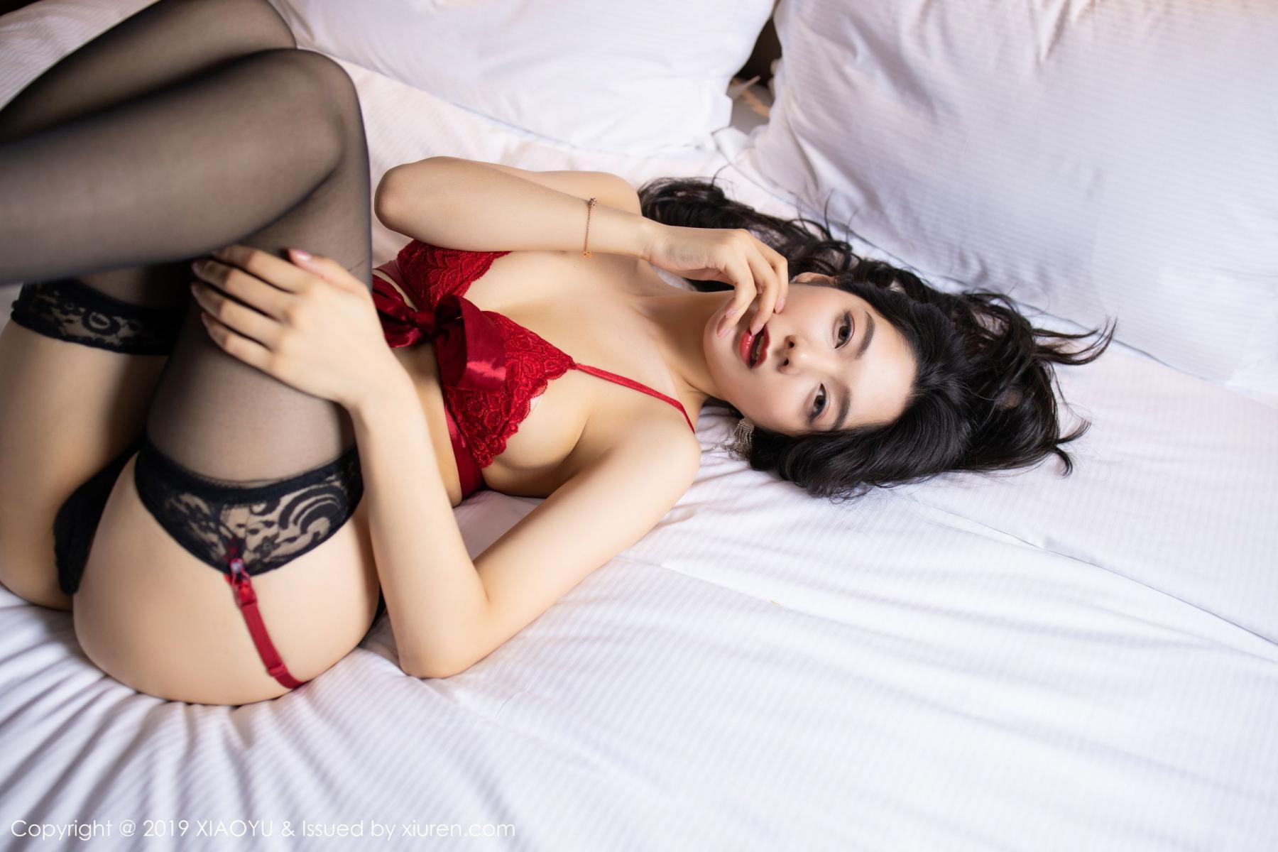 [XiaoYu] Vol.198 Di Yi 35P, Black Silk, Di Yi, Underwear, XiaoYu