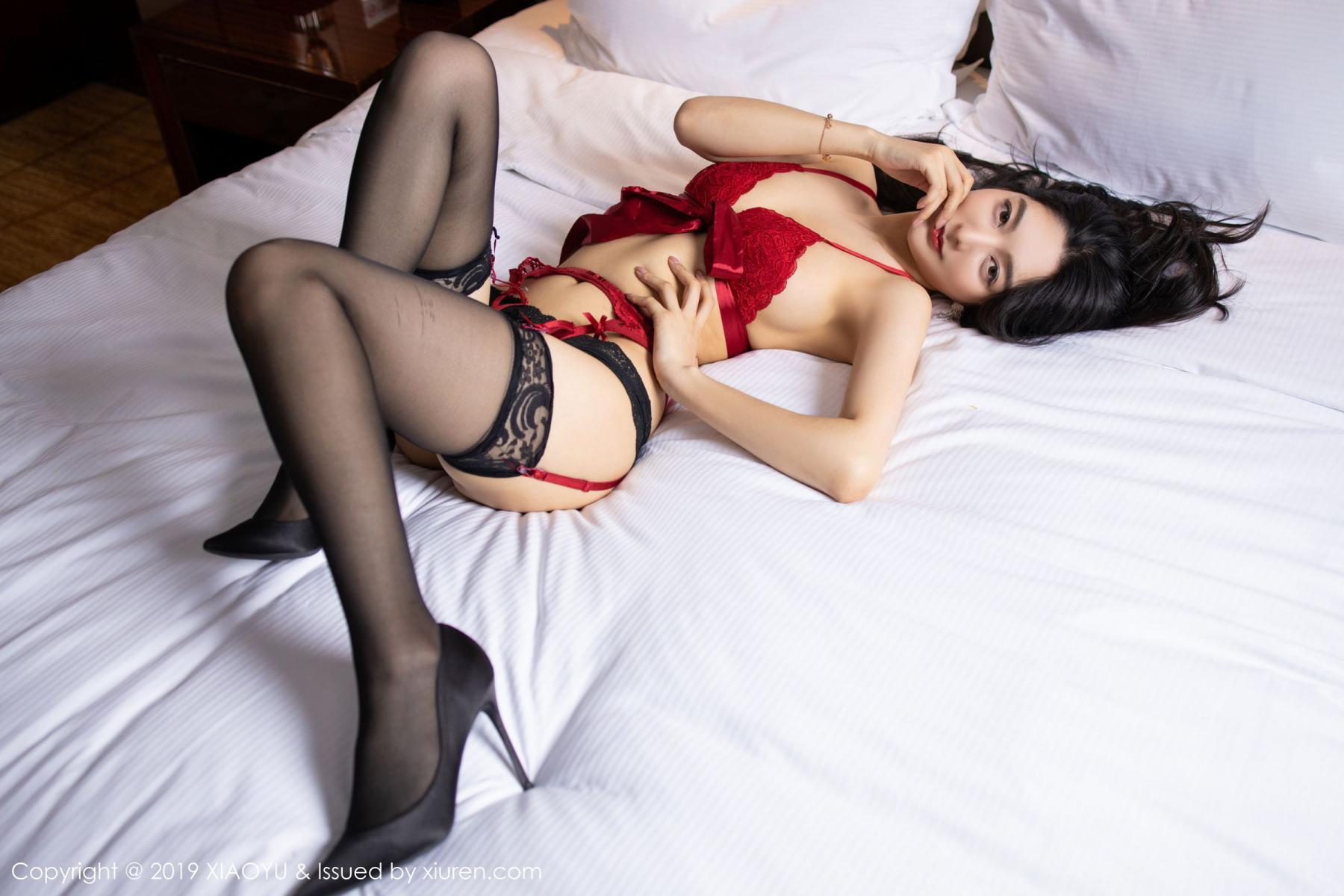 [XiaoYu] Vol.198 Di Yi 36P, Black Silk, Di Yi, Underwear, XiaoYu