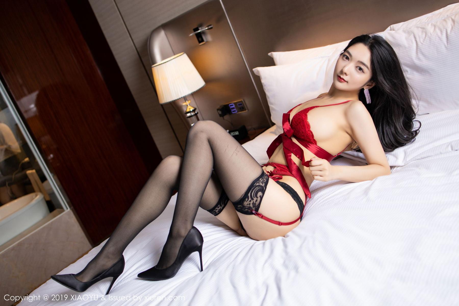 [XiaoYu] Vol.198 Di Yi 37P, Black Silk, Di Yi, Underwear, XiaoYu