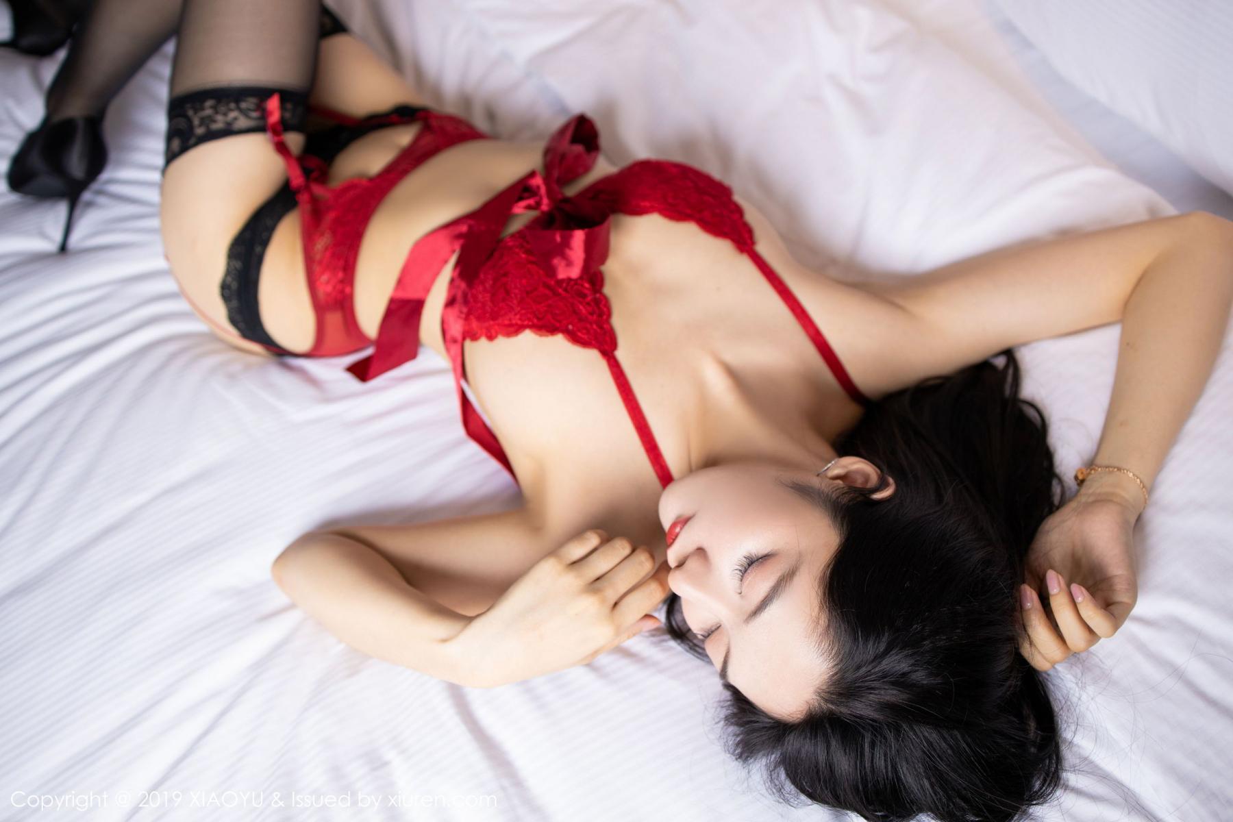 [XiaoYu] Vol.198 Di Yi 39P, Black Silk, Di Yi, Underwear, XiaoYu