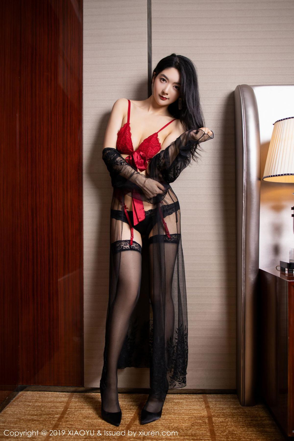 [XiaoYu] Vol.198 Di Yi 3P, Black Silk, Di Yi, Underwear, XiaoYu