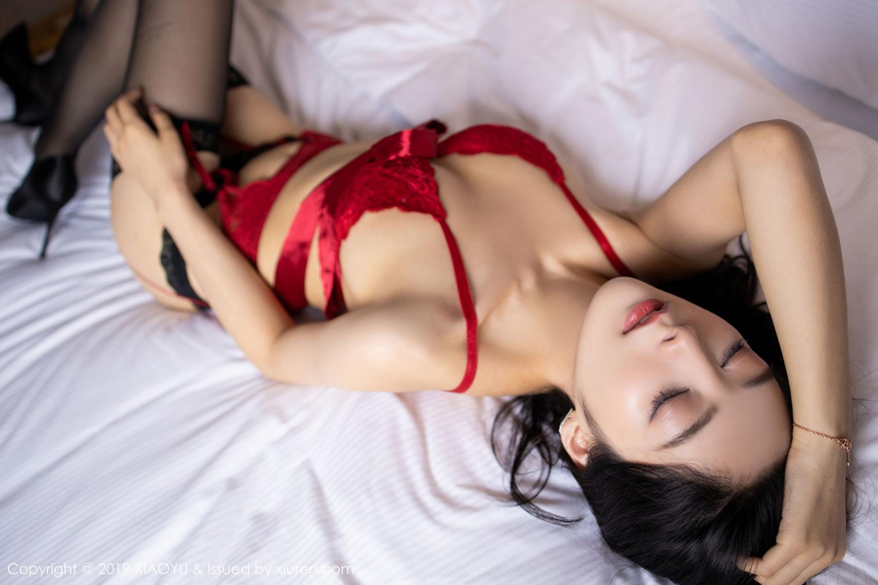 [XiaoYu] Vol.198 Di Yi 40P, Black Silk, Di Yi, Underwear, XiaoYu