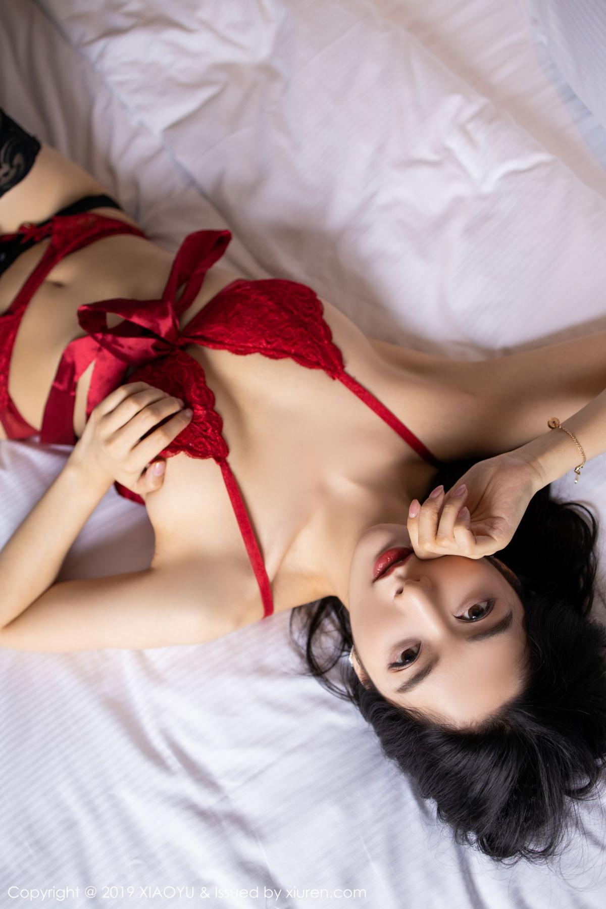 [XiaoYu] Vol.198 Di Yi 44P, Black Silk, Di Yi, Underwear, XiaoYu