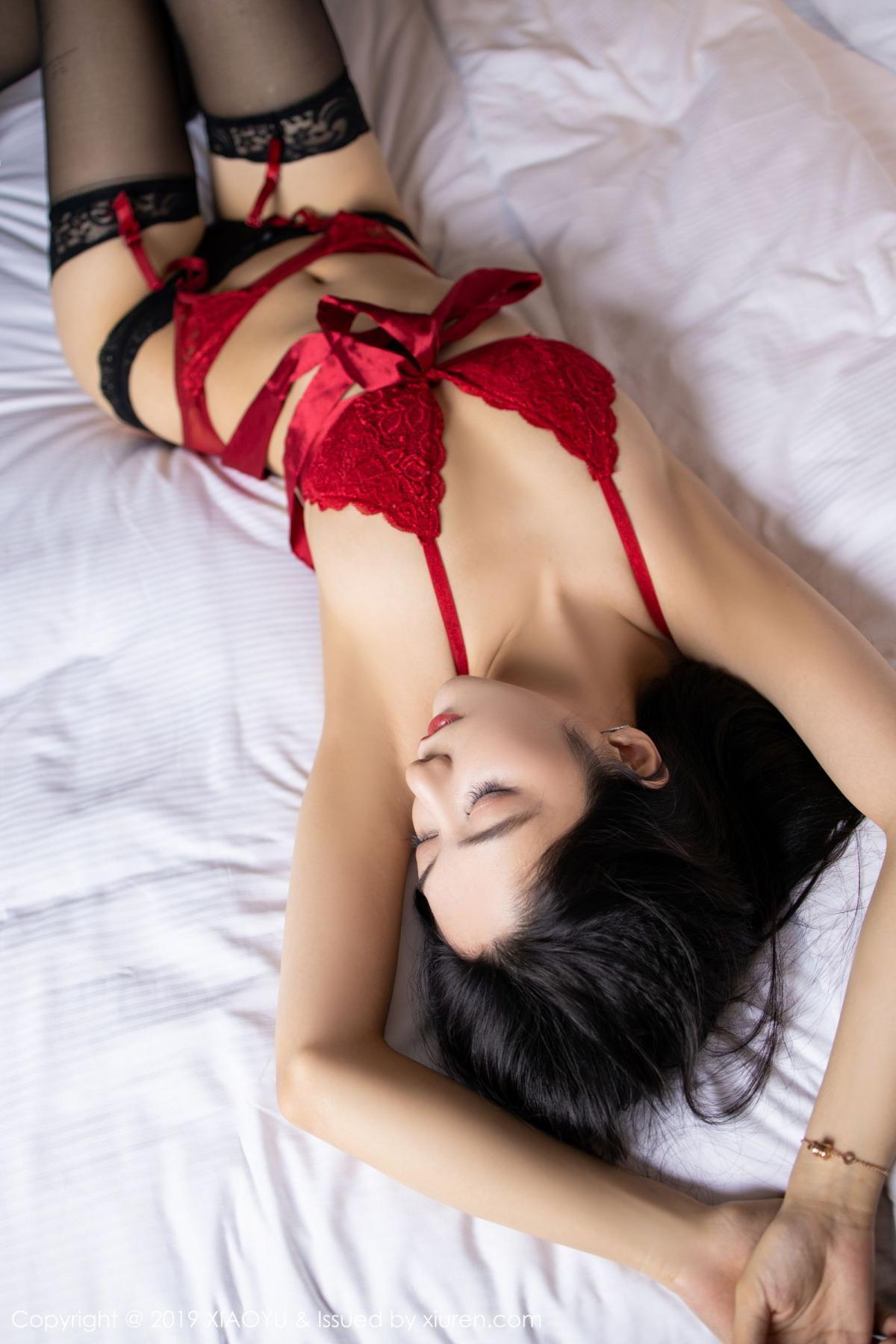 [XiaoYu] Vol.198 Di Yi 46P, Black Silk, Di Yi, Underwear, XiaoYu