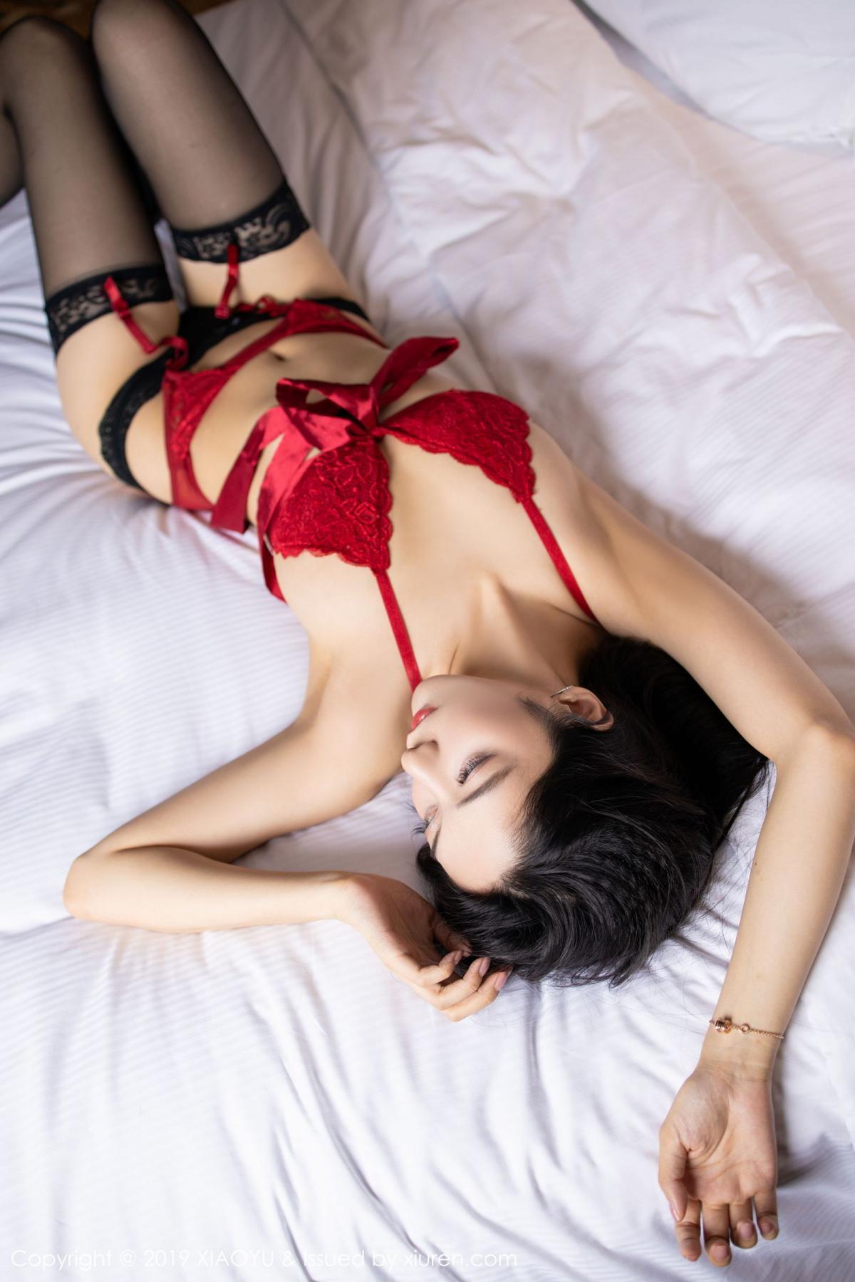 [XiaoYu] Vol.198 Di Yi 47P, Black Silk, Di Yi, Underwear, XiaoYu