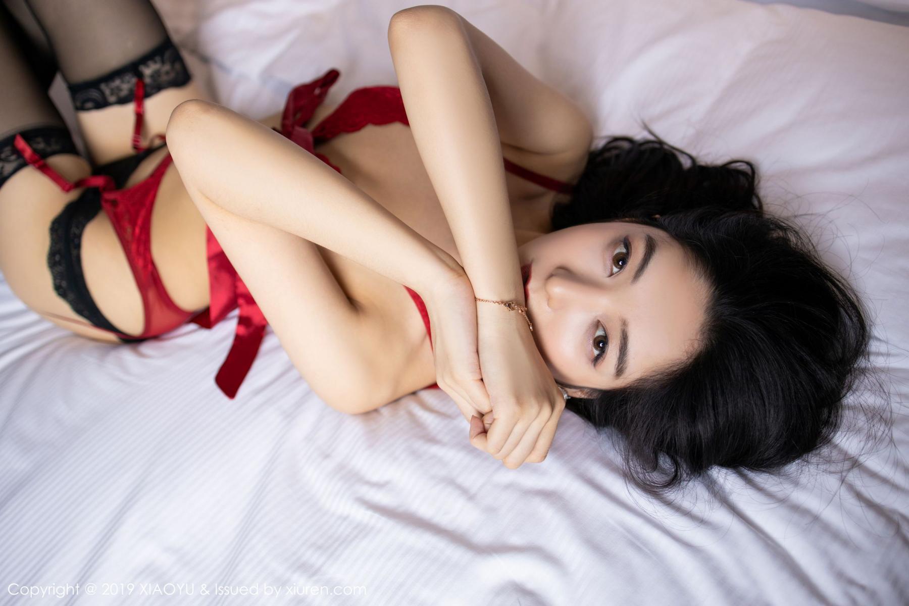 [XiaoYu] Vol.198 Di Yi 54P, Black Silk, Di Yi, Underwear, XiaoYu