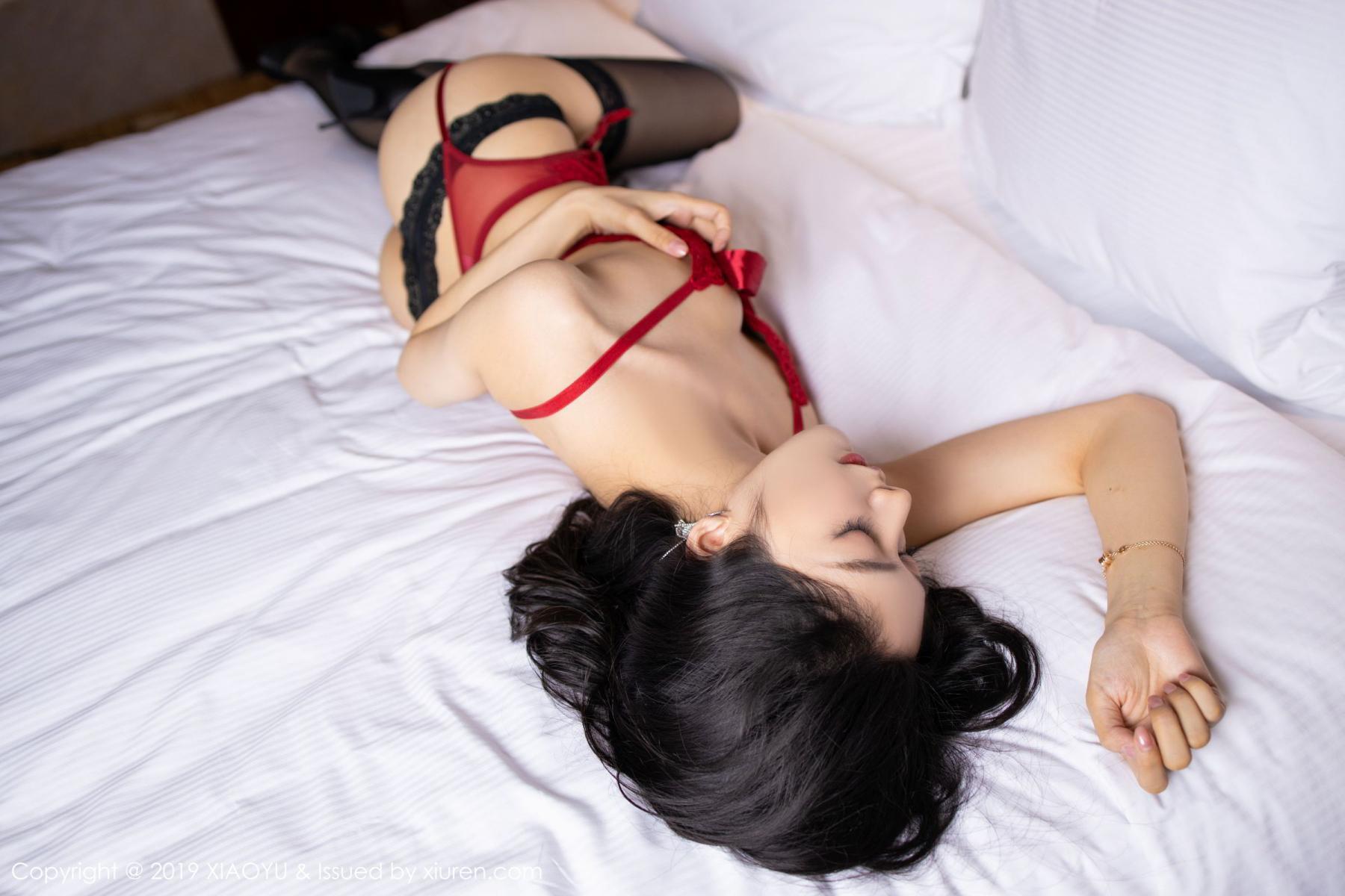 [XiaoYu] Vol.198 Di Yi 57P, Black Silk, Di Yi, Underwear, XiaoYu