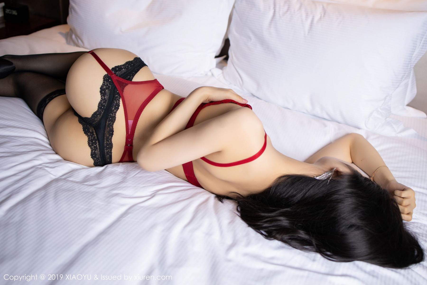 [XiaoYu] Vol.198 Di Yi 59P, Black Silk, Di Yi, Underwear, XiaoYu