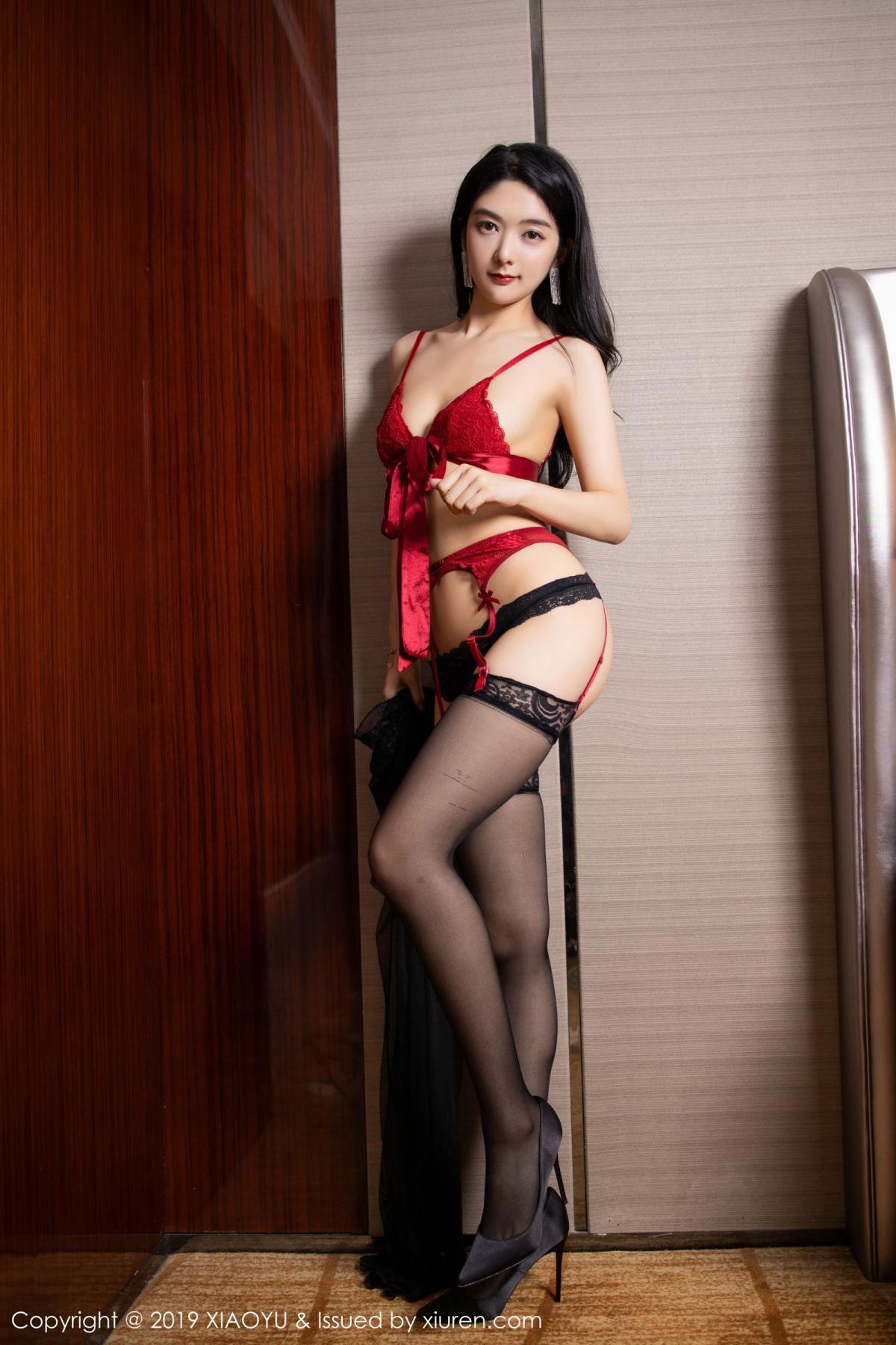 [XiaoYu] Vol.198 Di Yi 5P, Black Silk, Di Yi, Underwear, XiaoYu
