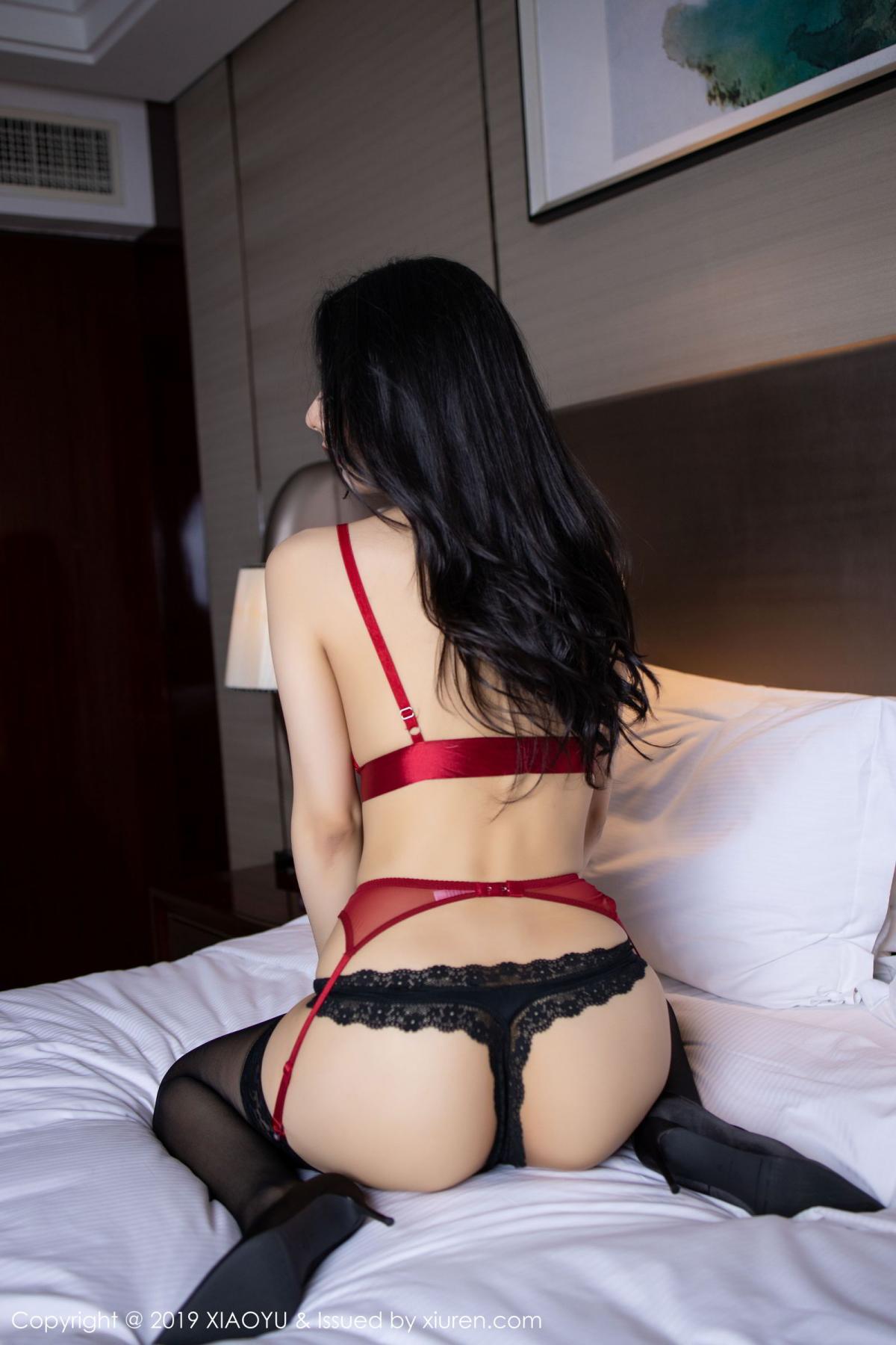[XiaoYu] Vol.198 Di Yi 61P, Black Silk, Di Yi, Underwear, XiaoYu