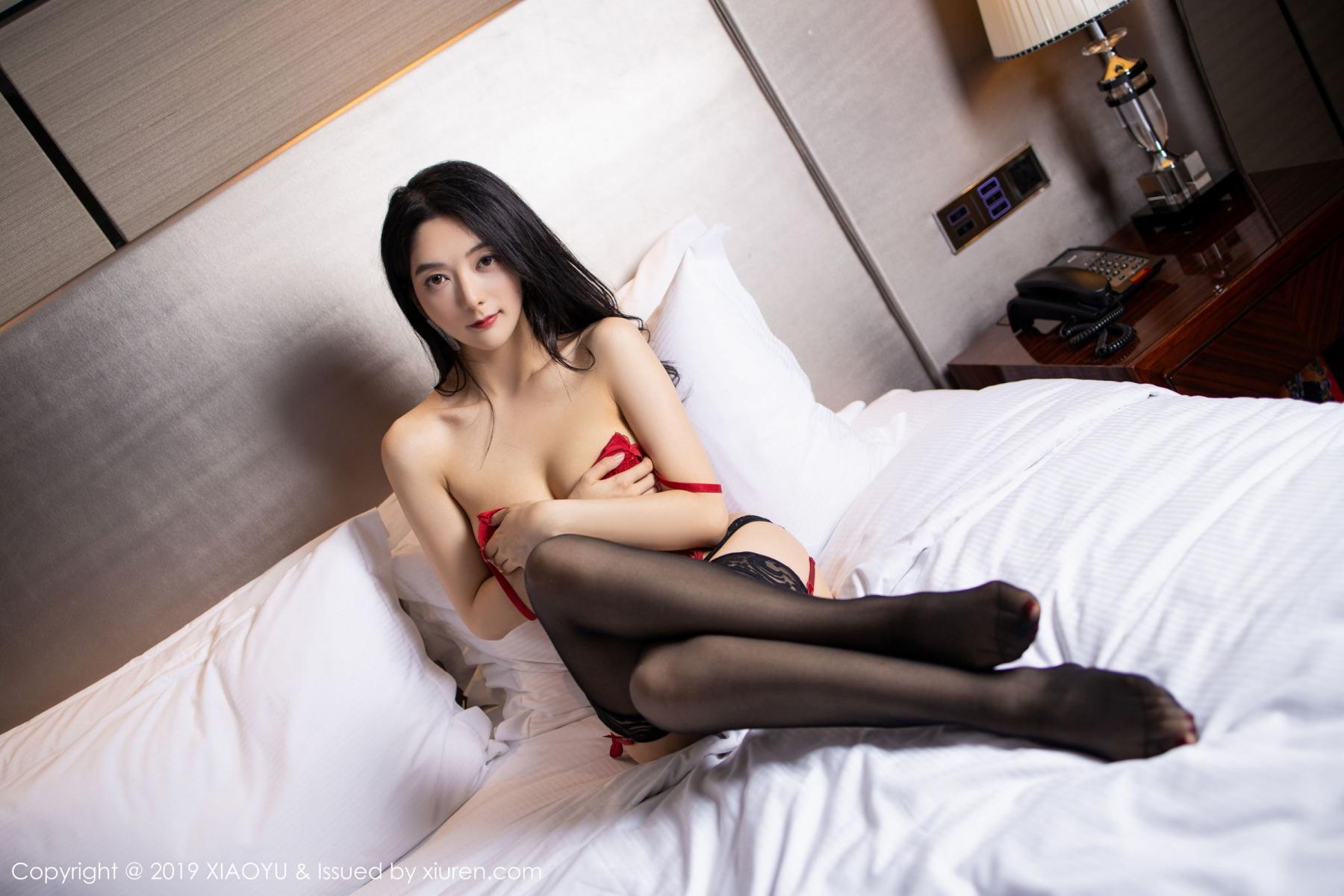 [XiaoYu] Vol.198 Di Yi 80P, Black Silk, Di Yi, Underwear, XiaoYu