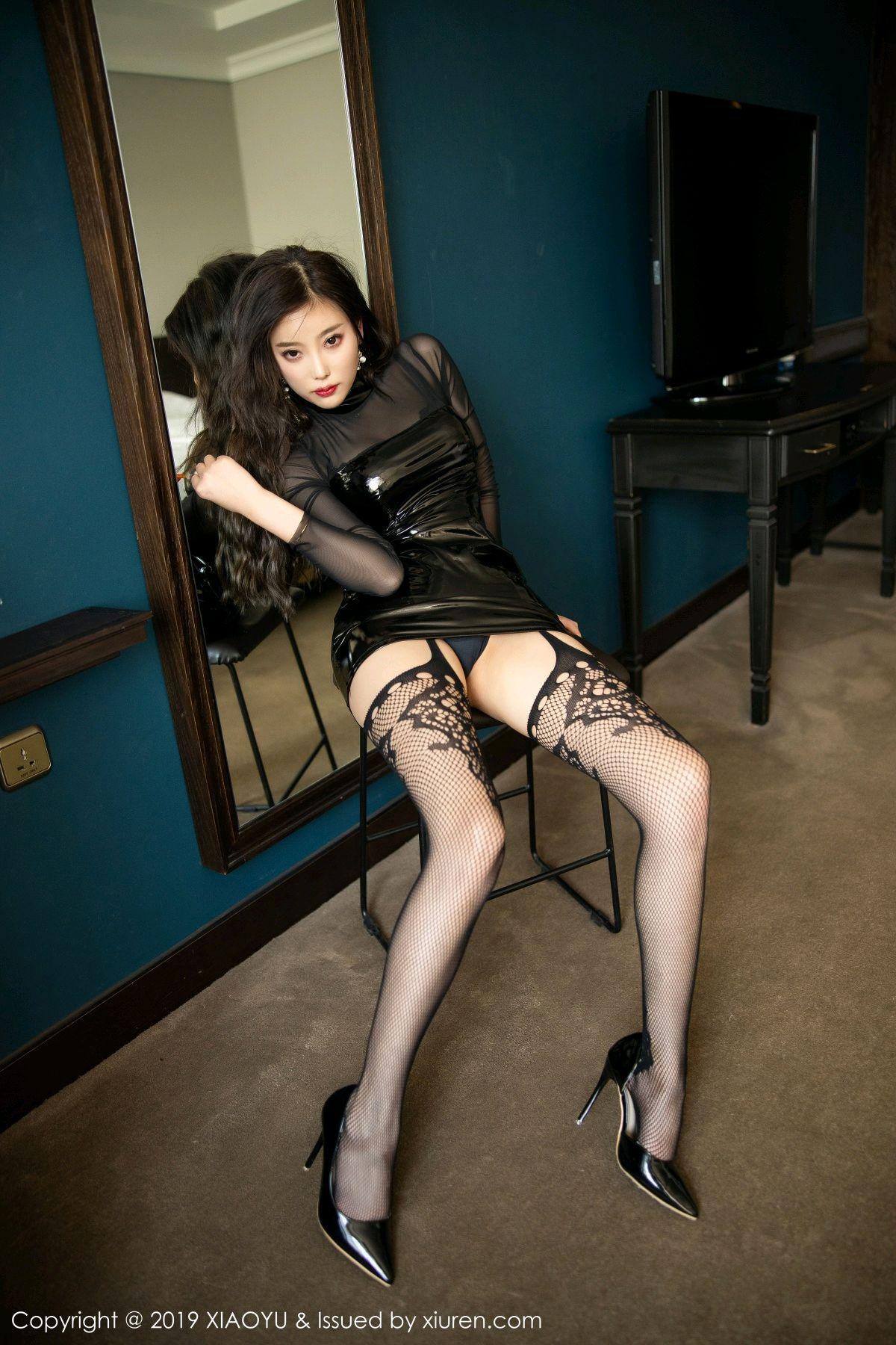 [XiaoYu] Vol.199 Yang Chen Chen 18P, Black Silk, Underwear, XiaoYu, Yang Chen Chen