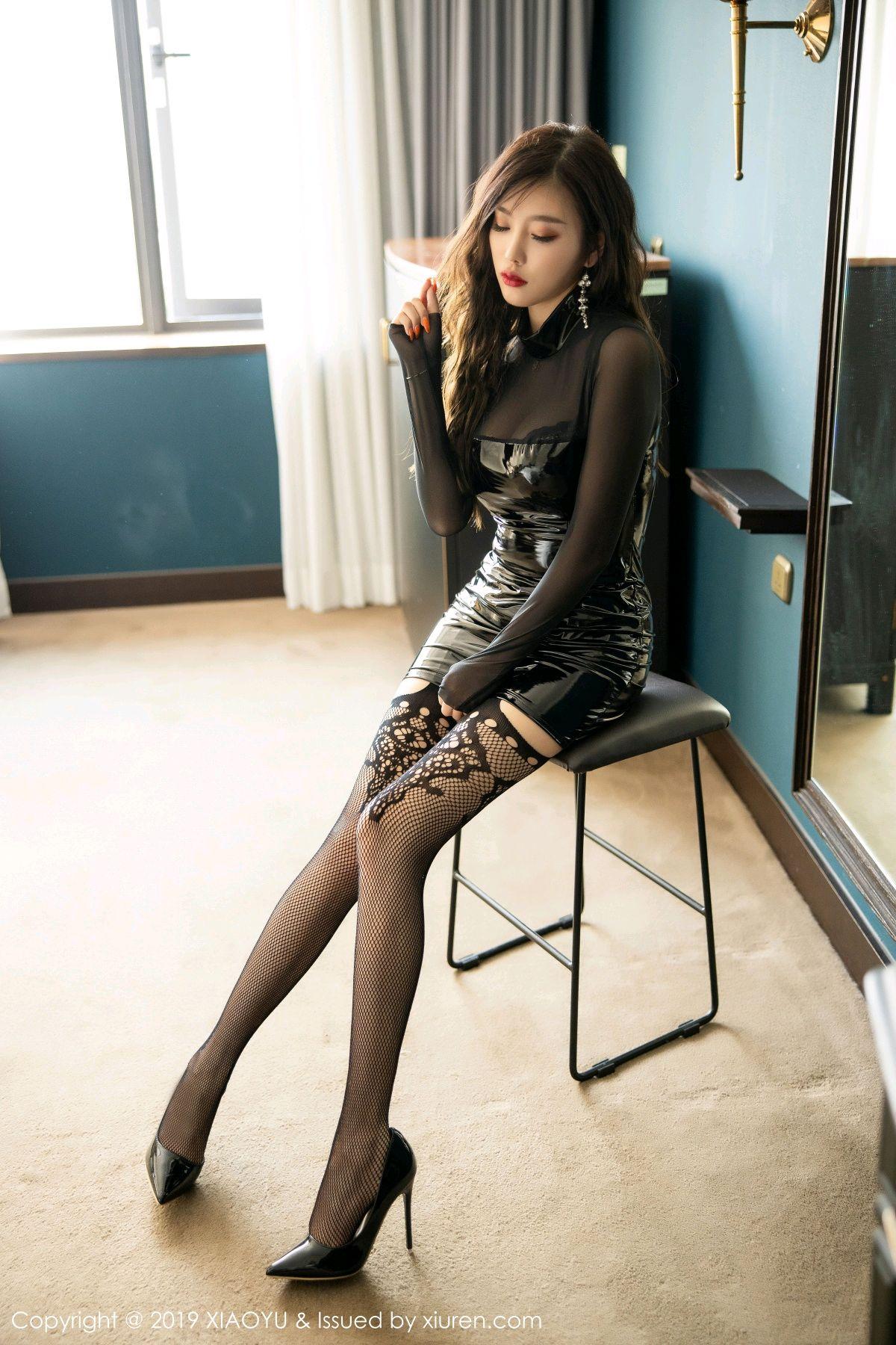 [XiaoYu] Vol.199 Yang Chen Chen 1P, Black Silk, Underwear, XiaoYu, Yang Chen Chen