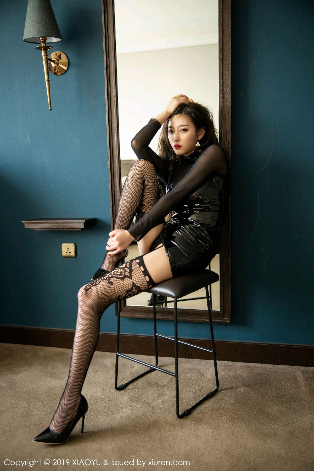 [XiaoYu] Vol.199 Yang Chen Chen 28P, Black Silk, Underwear, XiaoYu, Yang Chen Chen