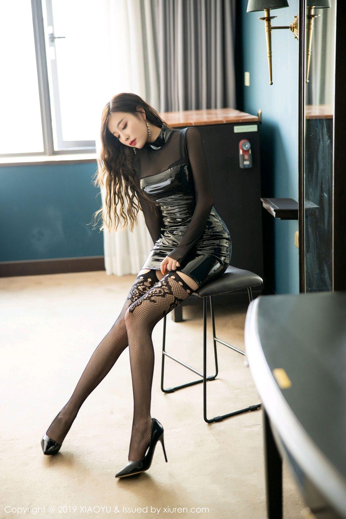 [XiaoYu] Vol.199 Yang Chen Chen 2P, Black Silk, Underwear, XiaoYu, Yang Chen Chen